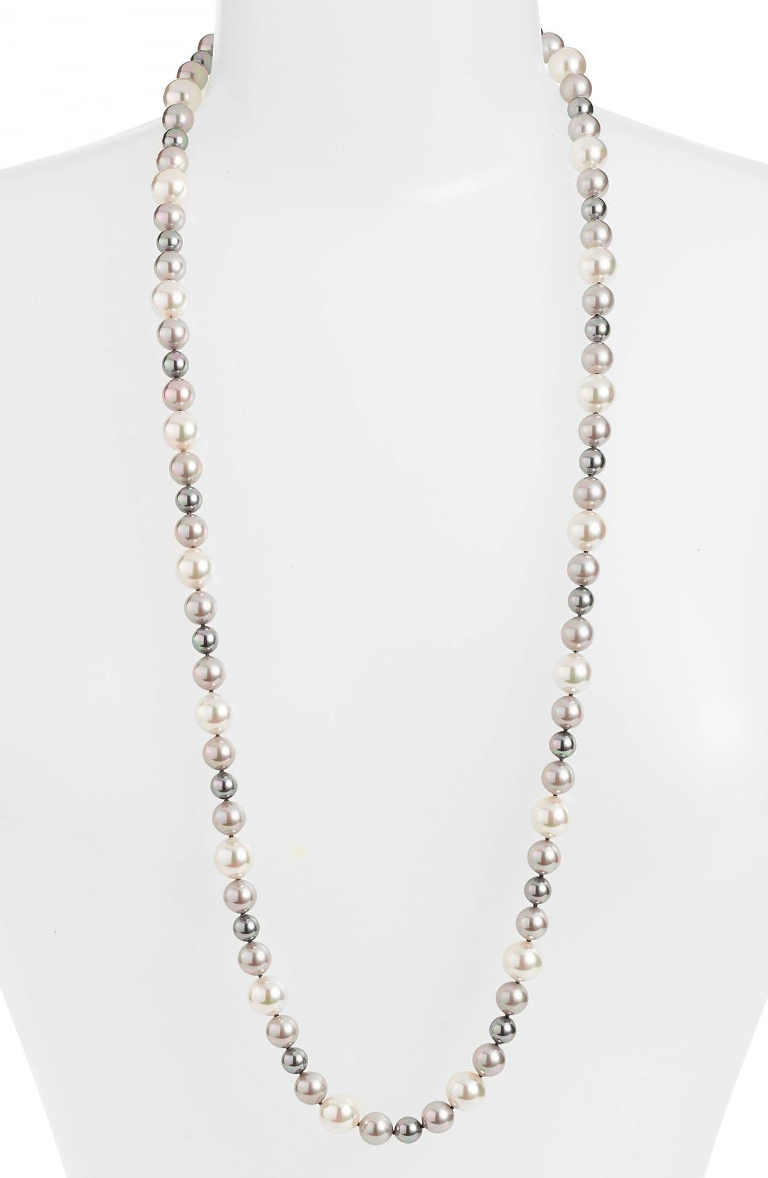 Main Image - Majorica 12mm Round Simulated Pearl Strand Necklace