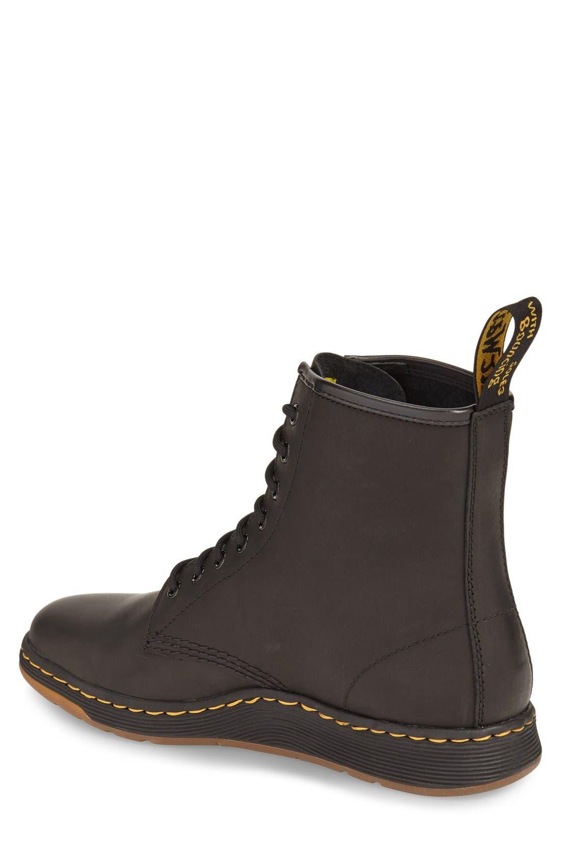 'Newton' Boot,                             Alternate thumbnail 2, color,                             Black Leather