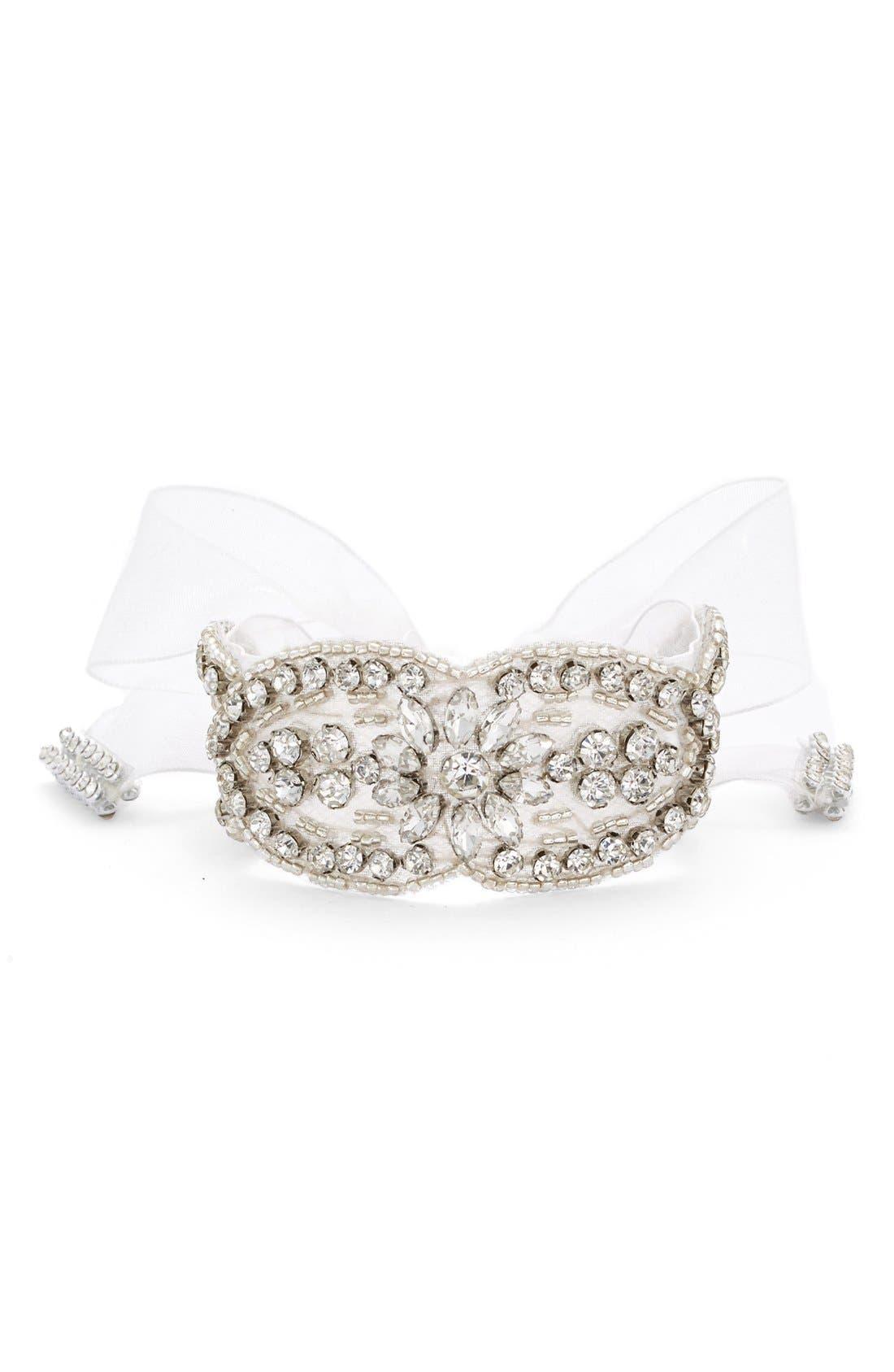 'Pretty Boho' Jewel Tie Bracelet,                         Main,                         color, Ivory