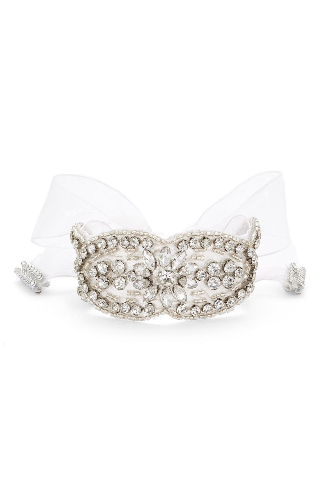'Pretty Boho' Jewel Tie Bracelet,                         Main,                         color, Ivory