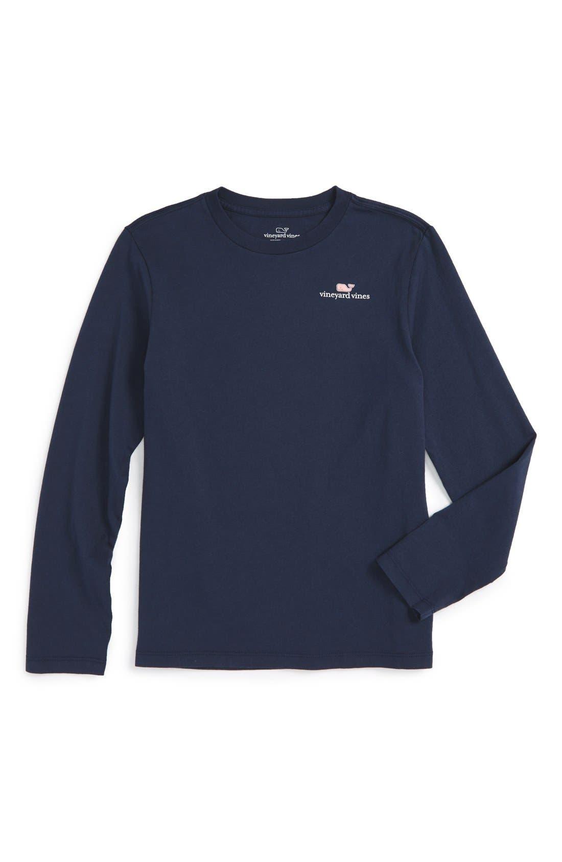 Alternate Image 1 Selected - Vineyard Vines Logo Graphic Long Sleeve T-Shirt (Big Boys)