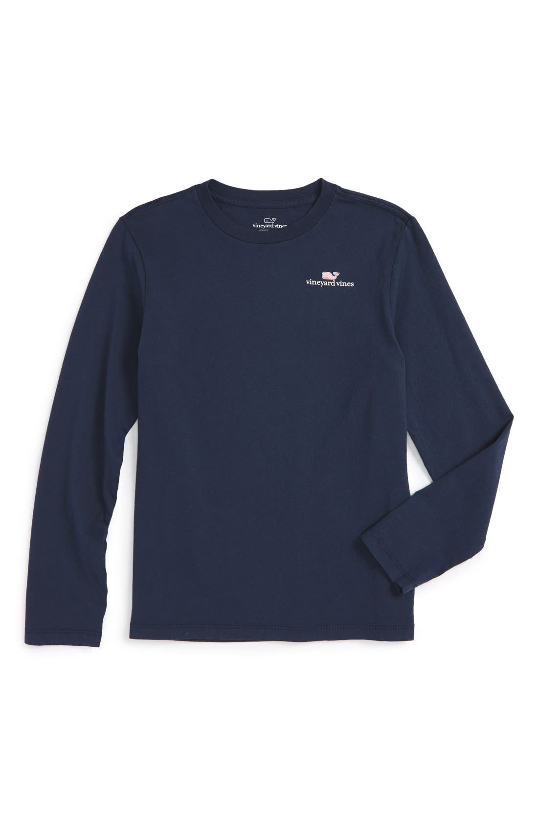 Main Image - Vineyard Vines Logo Graphic Long Sleeve T-Shirt (Big Boys)