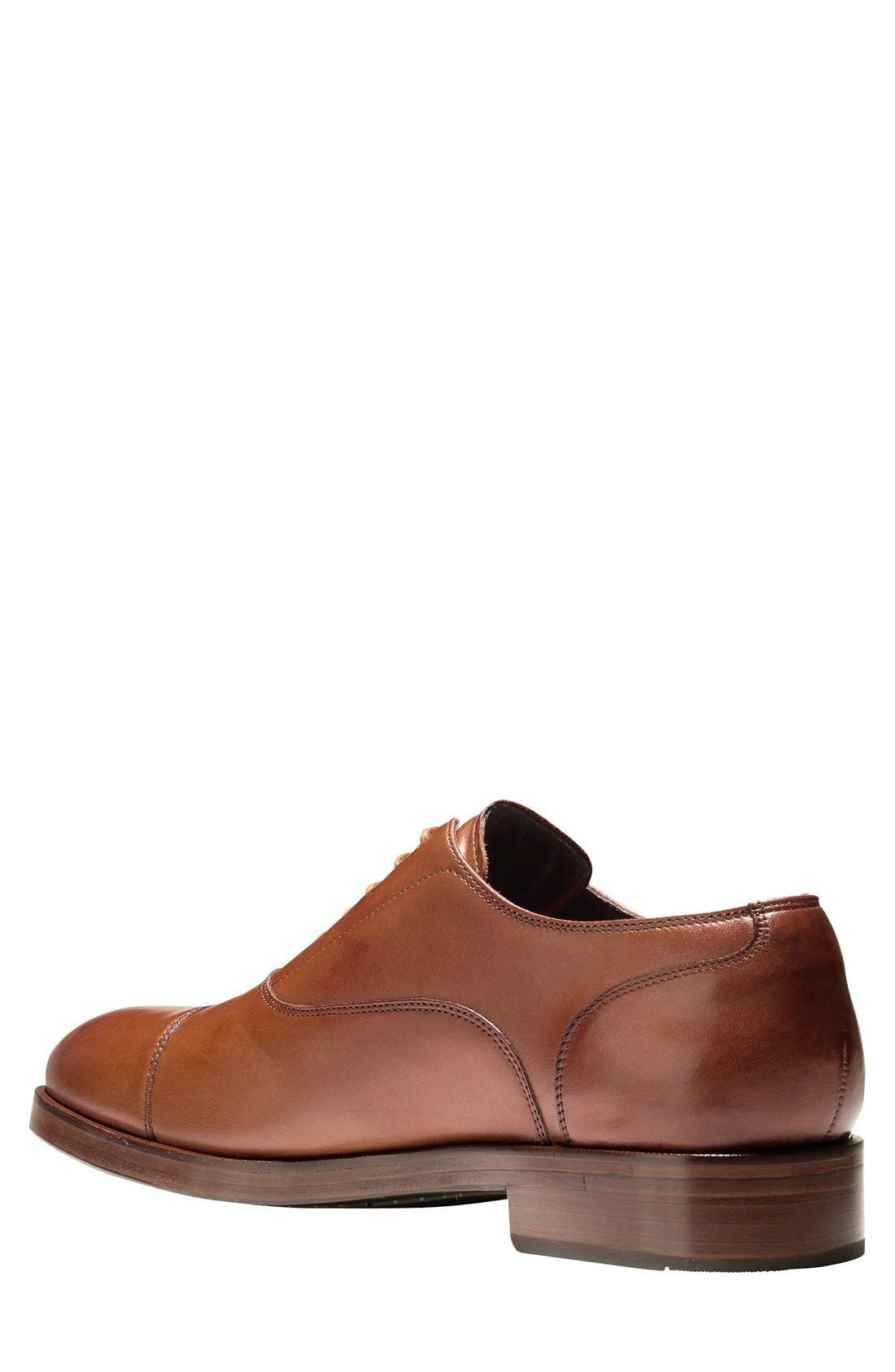 Harrison Grand Cap Toe Oxford,                             Alternate thumbnail 2, color,                             British Tan Leather