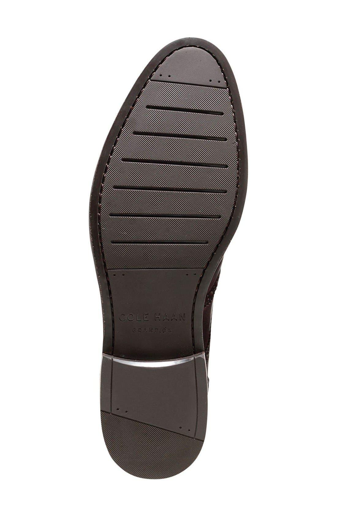 'Harrison Grand' Wingtip,                             Alternate thumbnail 5, color,                             Dark Brown Leather