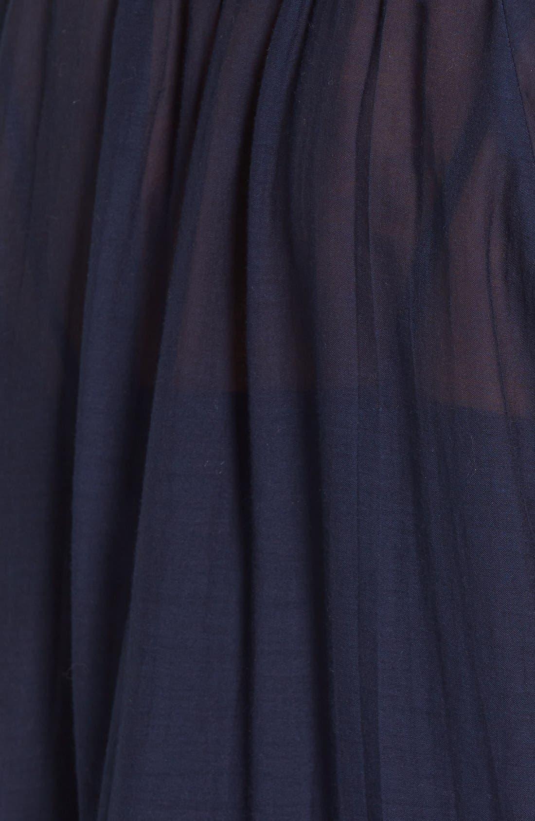 Alternate Image 5  - Vineyard Vines Embroidered Cotton & Silk Peasant Top