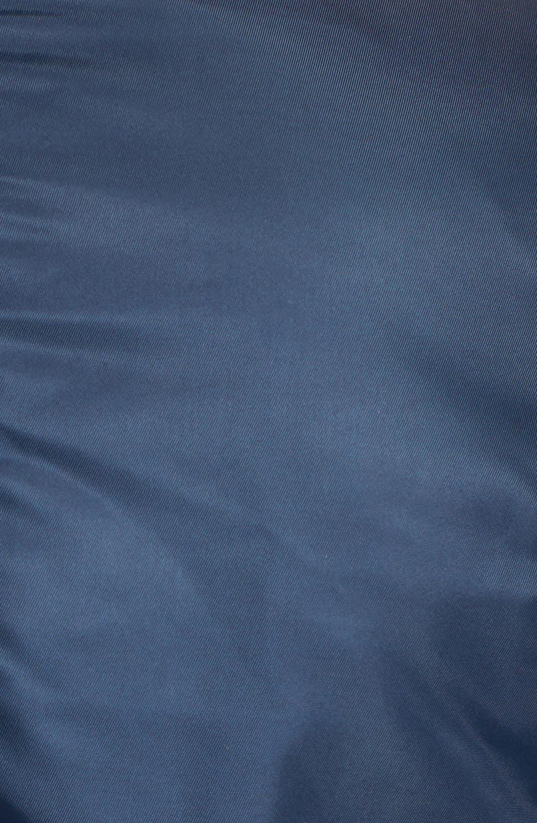 Side Zip Bomber Jacket,                             Alternate thumbnail 5, color,                             Navy
