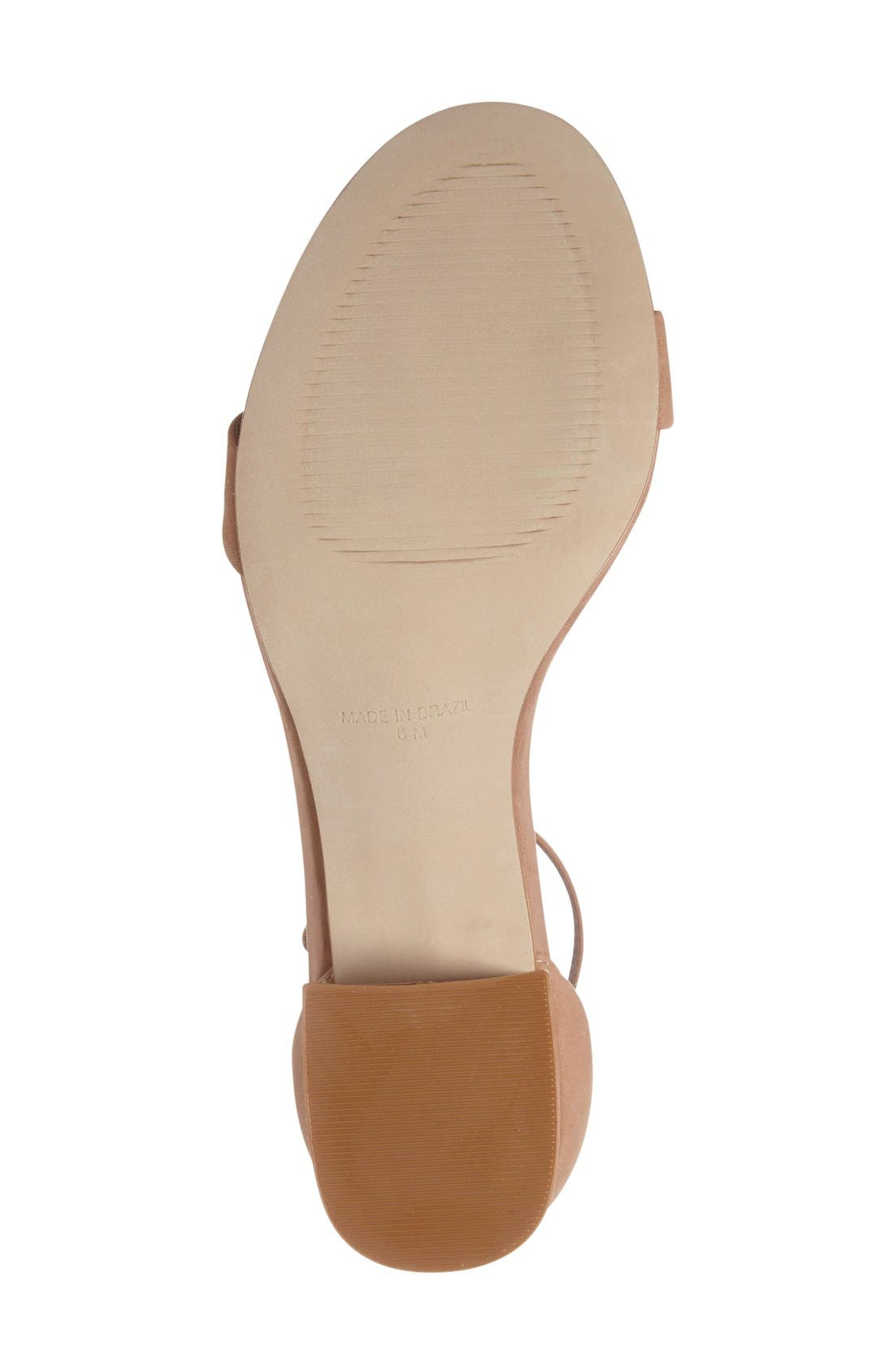 Irenee Ankle Strap Sandal,                             Alternate thumbnail 4, color,                             Tan Nubuck