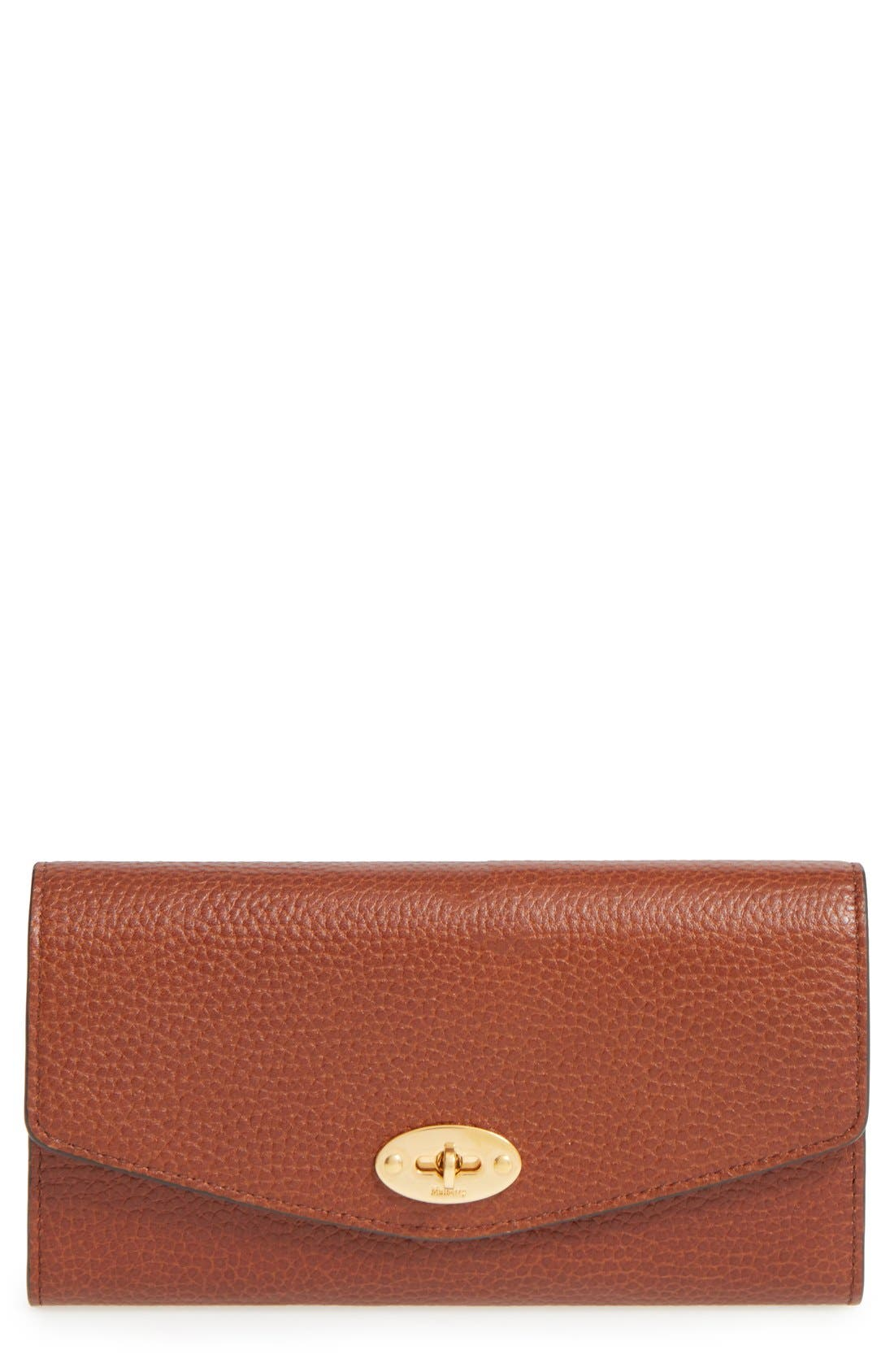 Alternate Image 1 Selected - Mulberry 'Postman's Lock' Leather Wallet