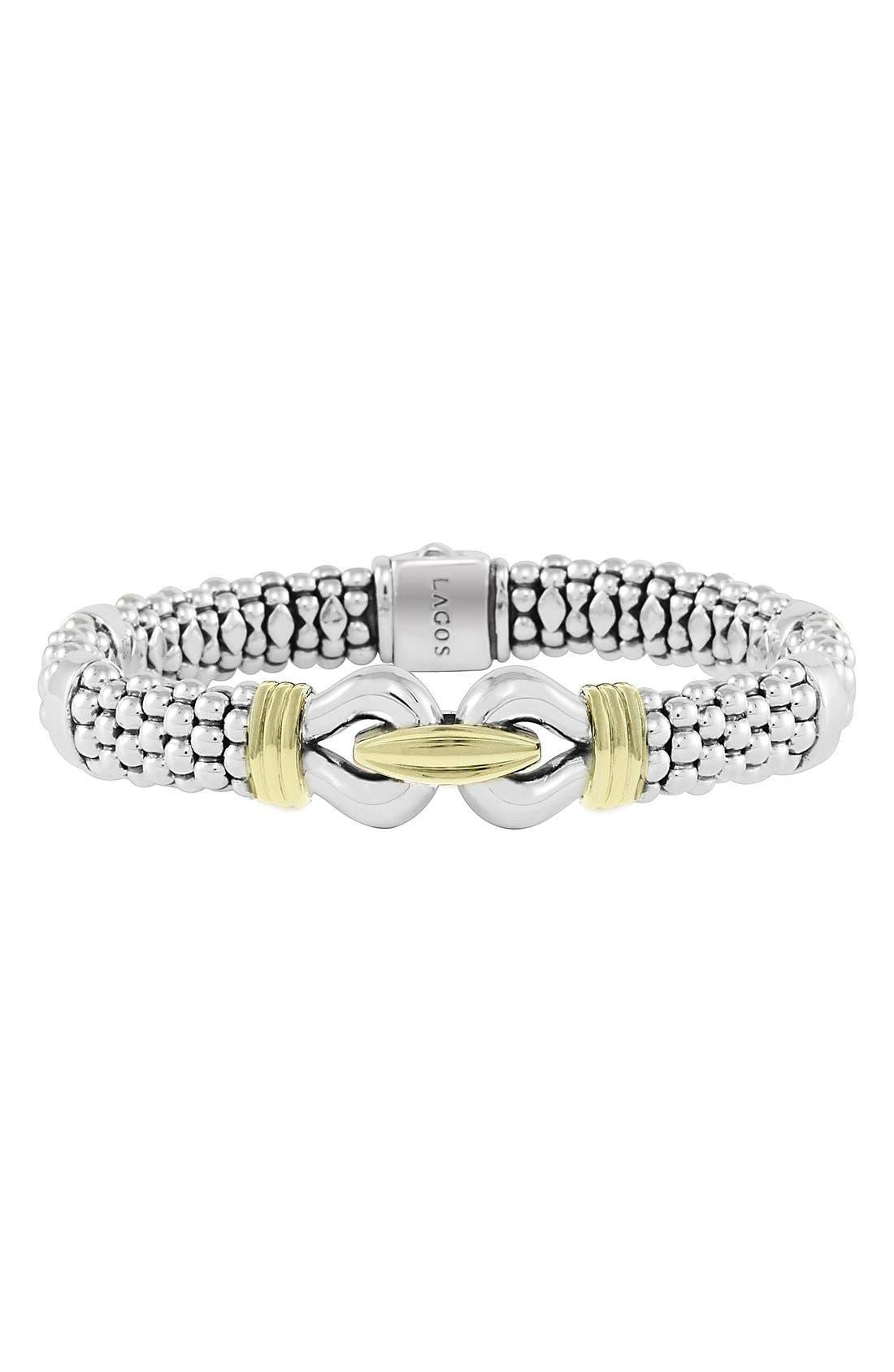 LAGOS Derby Two-Tone Caviar Rope Bracelet