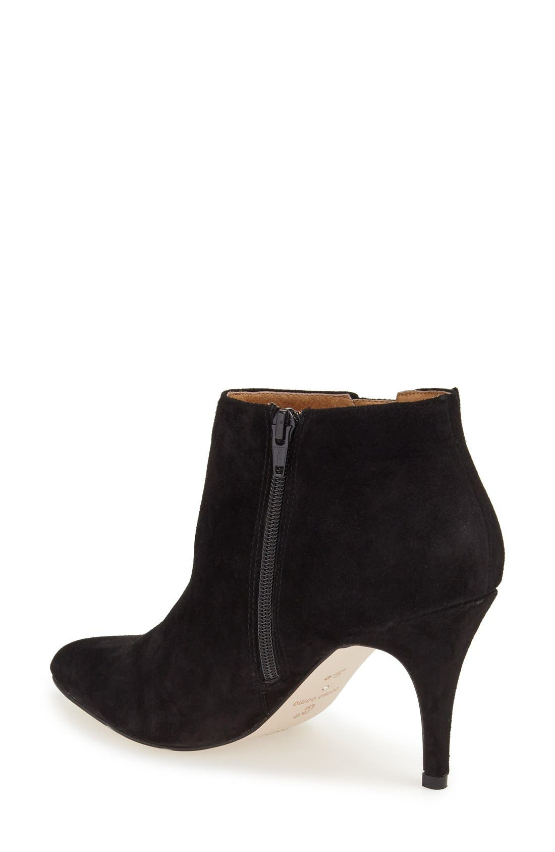 'Roster' Pointy Toe Bootie,                             Alternate thumbnail 2, color,                             Black Suede