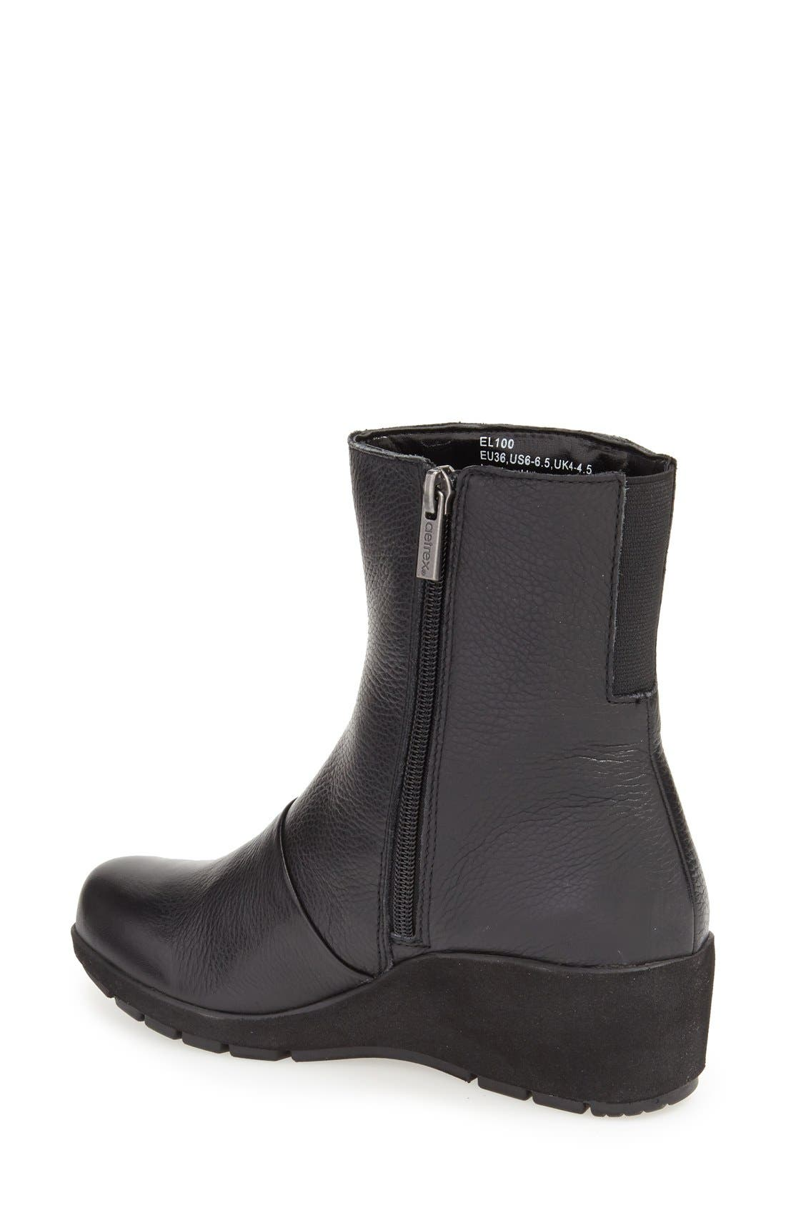 'Jane' Wedge Bootie,                             Alternate thumbnail 2, color,                             Black Leather