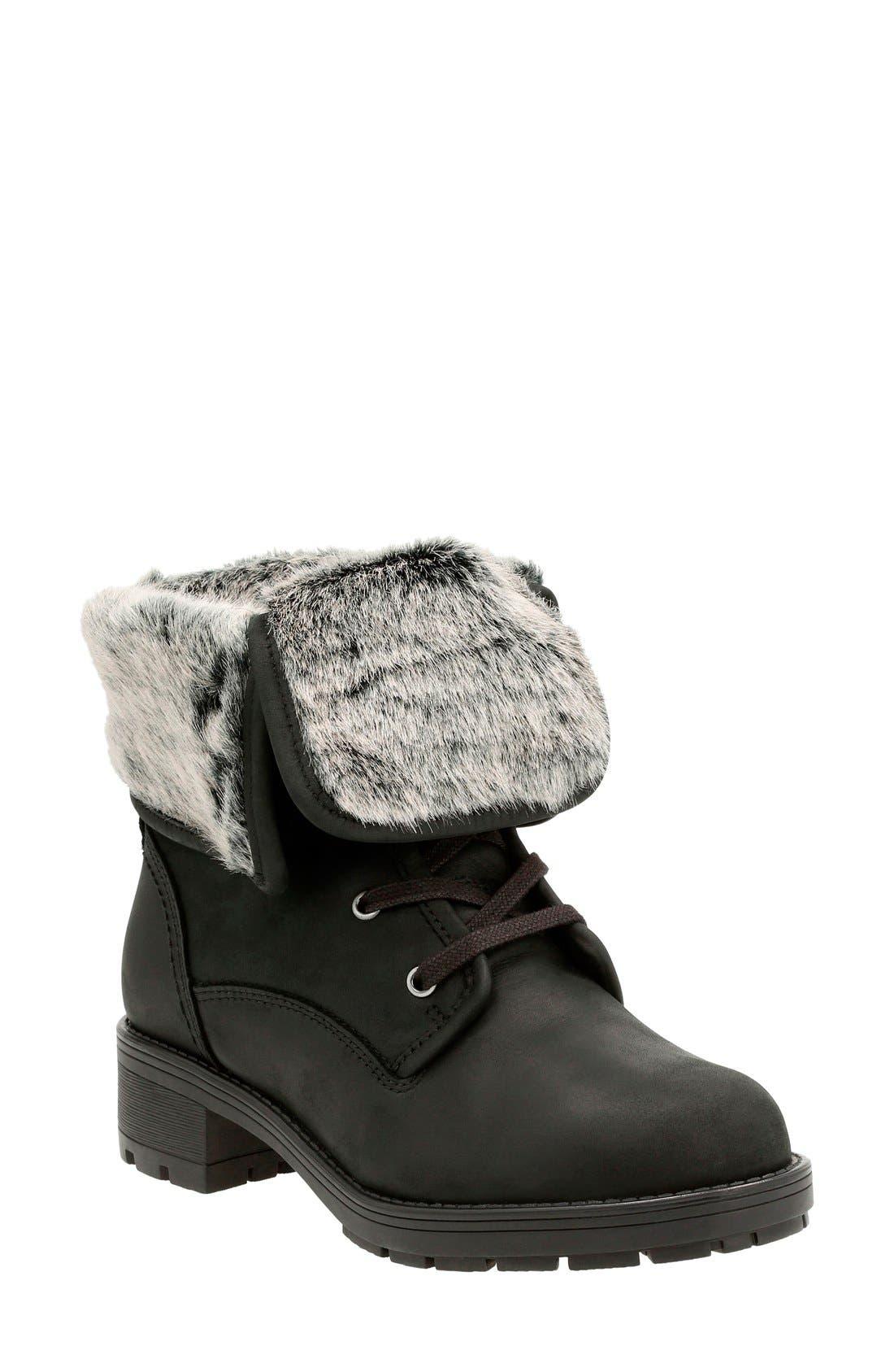 Clarks® 'Reunite Go' Waterproof Gore-Tex® Boot (Women)