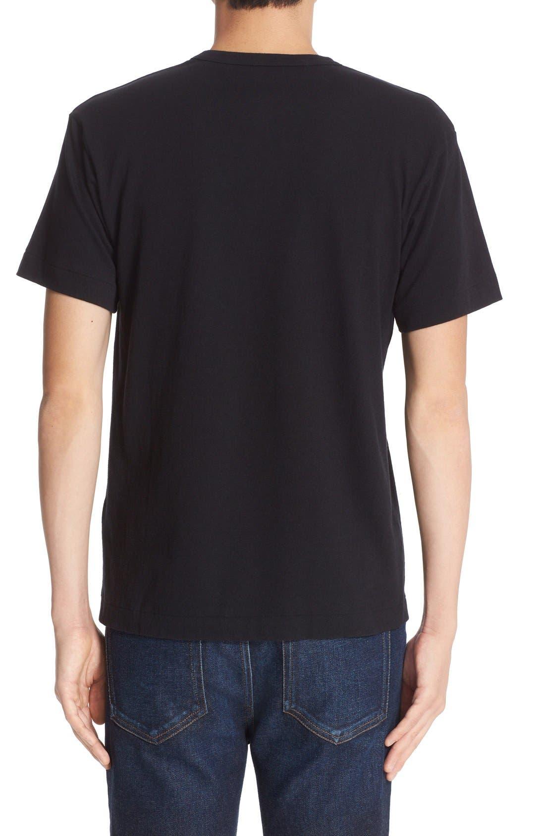 Comme des Garçons PLAY Logo Graphic T-Shirt,                             Alternate thumbnail 2, color,                             Black