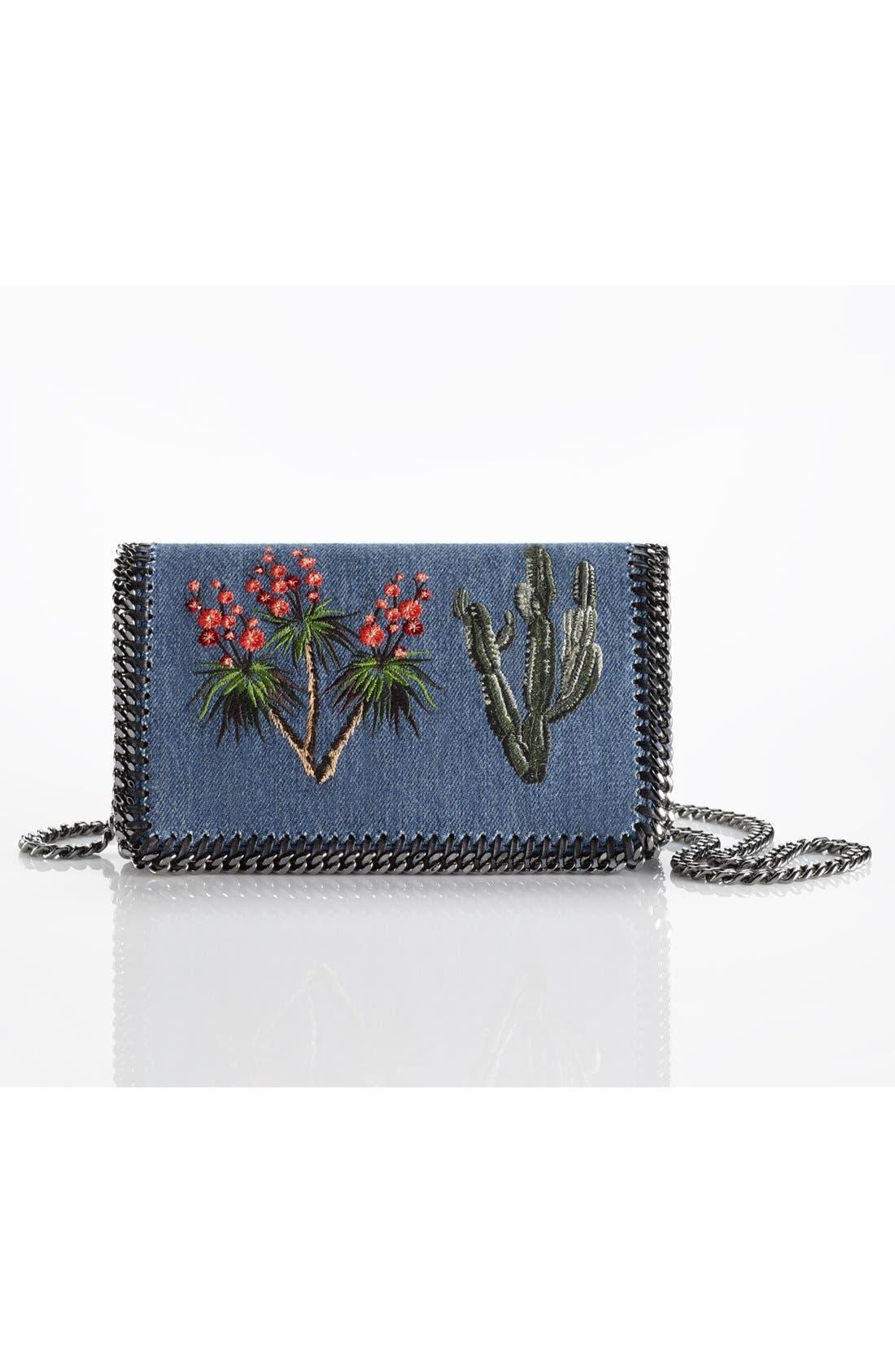 Alternate Image 7  - Stella McCartney Embroidered Denim Shoulder Bag