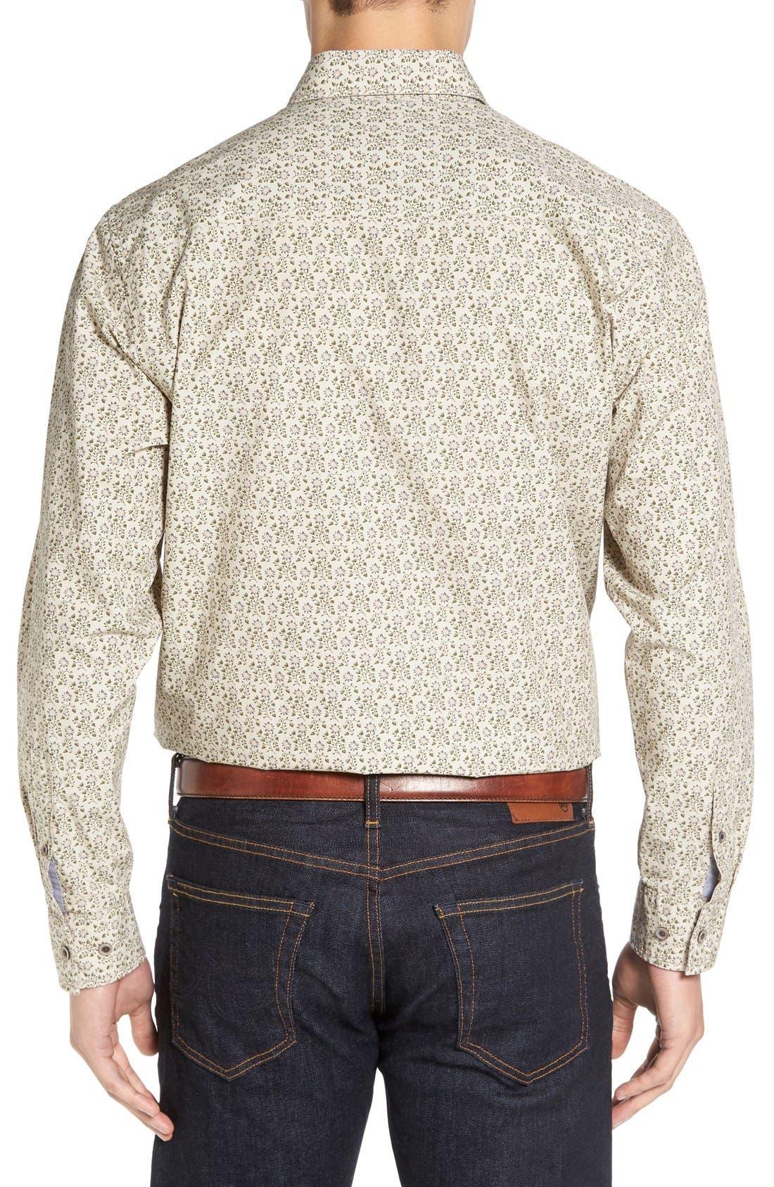 Alternate Image 2  - Cutter & Buck 'Winston' Regular Fit Print Sport Shirt (Big & Tall)