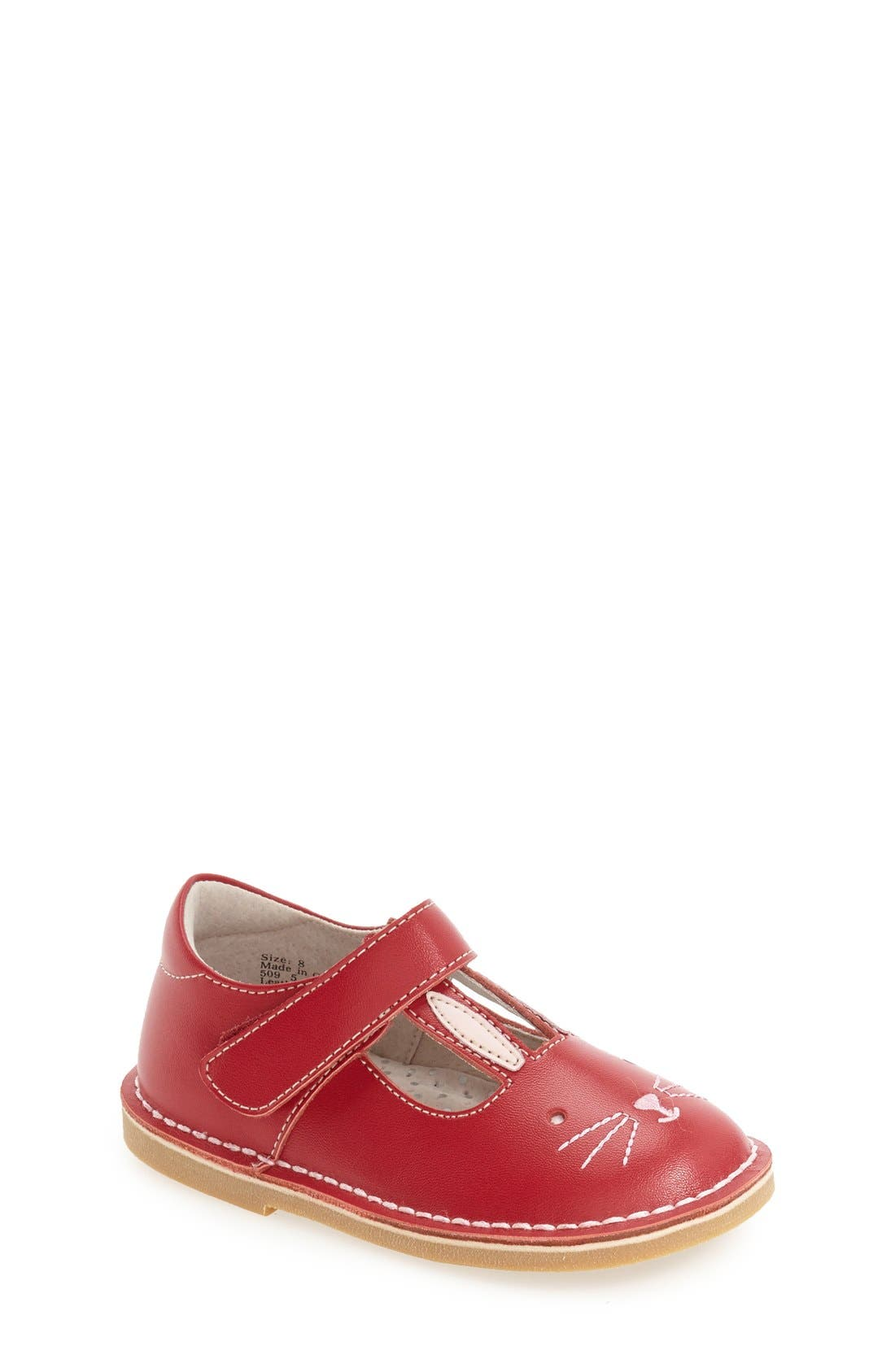 'Molly' Mary Jane,                         Main,                         color, Red Leather