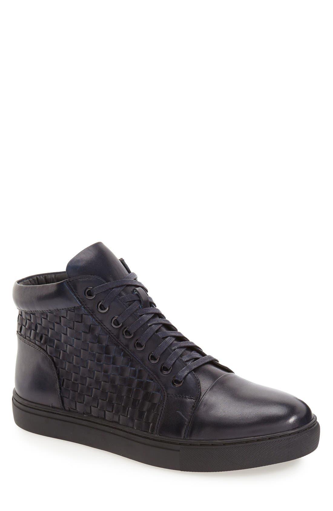 Soul High Top Sneaker,                         Main,                         color, Navy