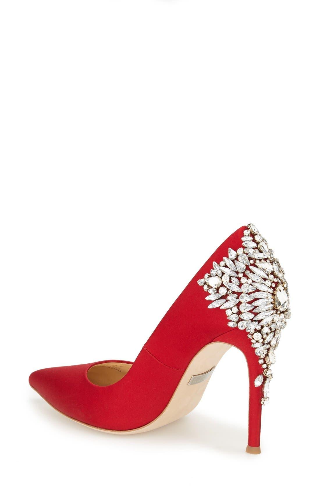 Alternate Image 2  - Badgley Mischka 'Gorgeous' Crystal Embellished Pointy Toe Pump (Women)