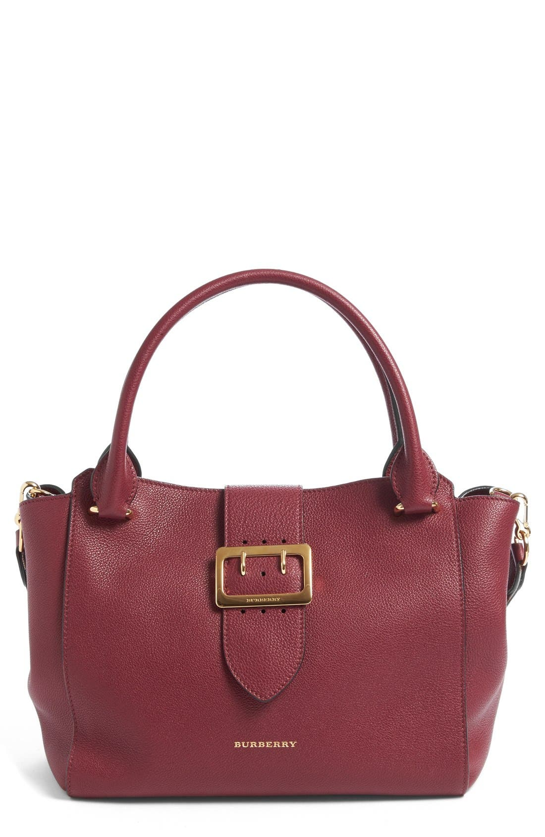 Burberry Medium Buckle Leather Satchel