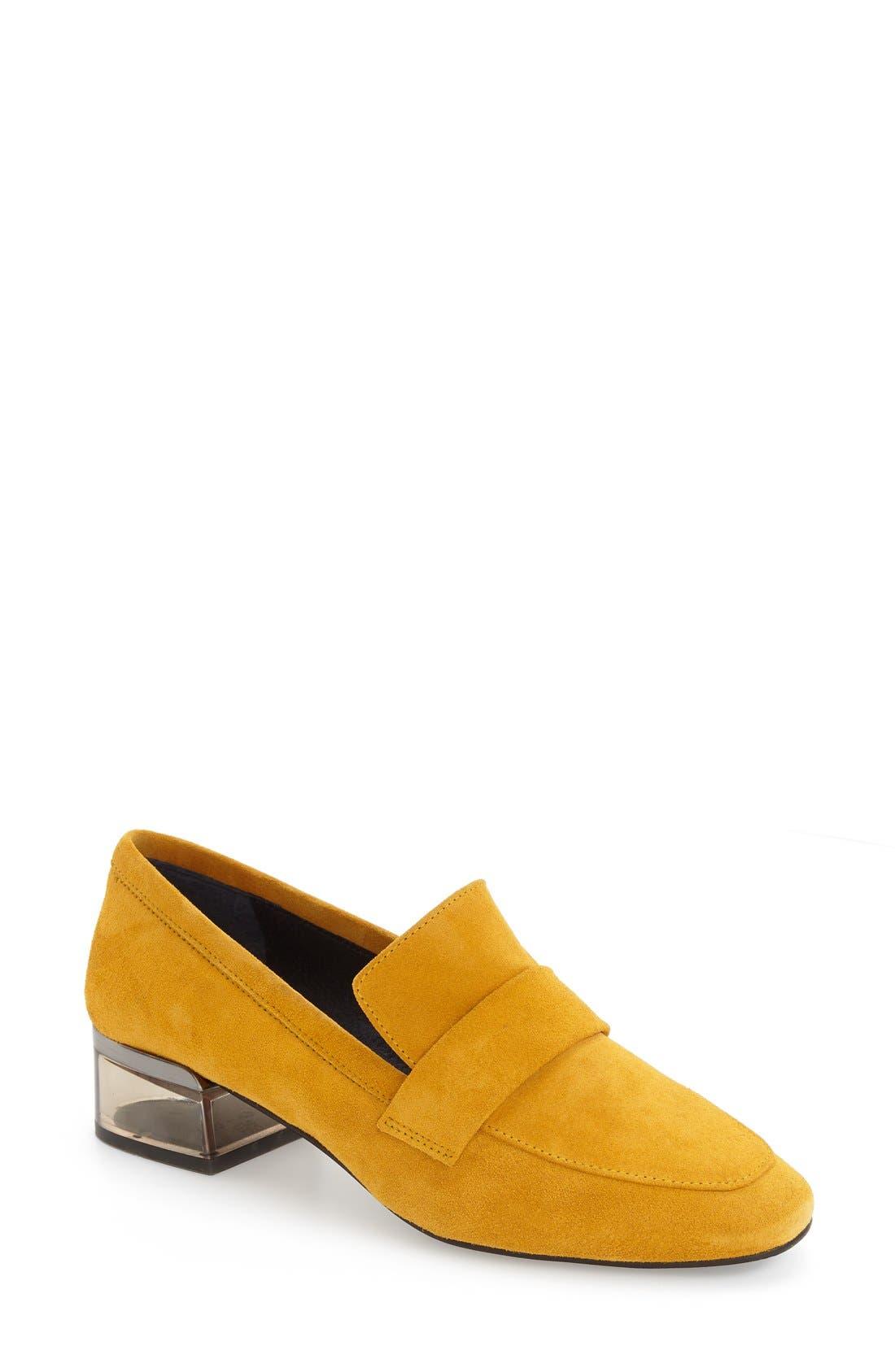 Main Image - Topshop 'Karrot' Clear Heel Loafer (Women)