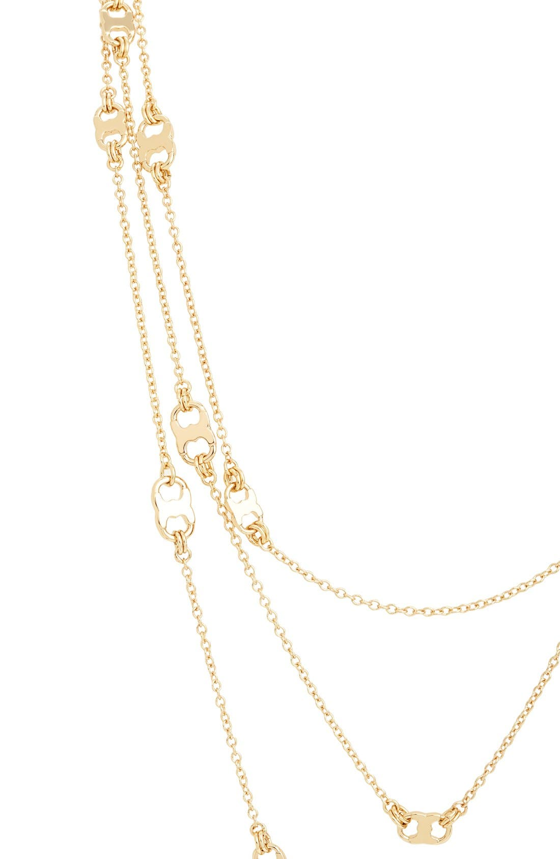 'Gemini' Link Multistrand Necklace,                             Alternate thumbnail 2, color,                             Gold
