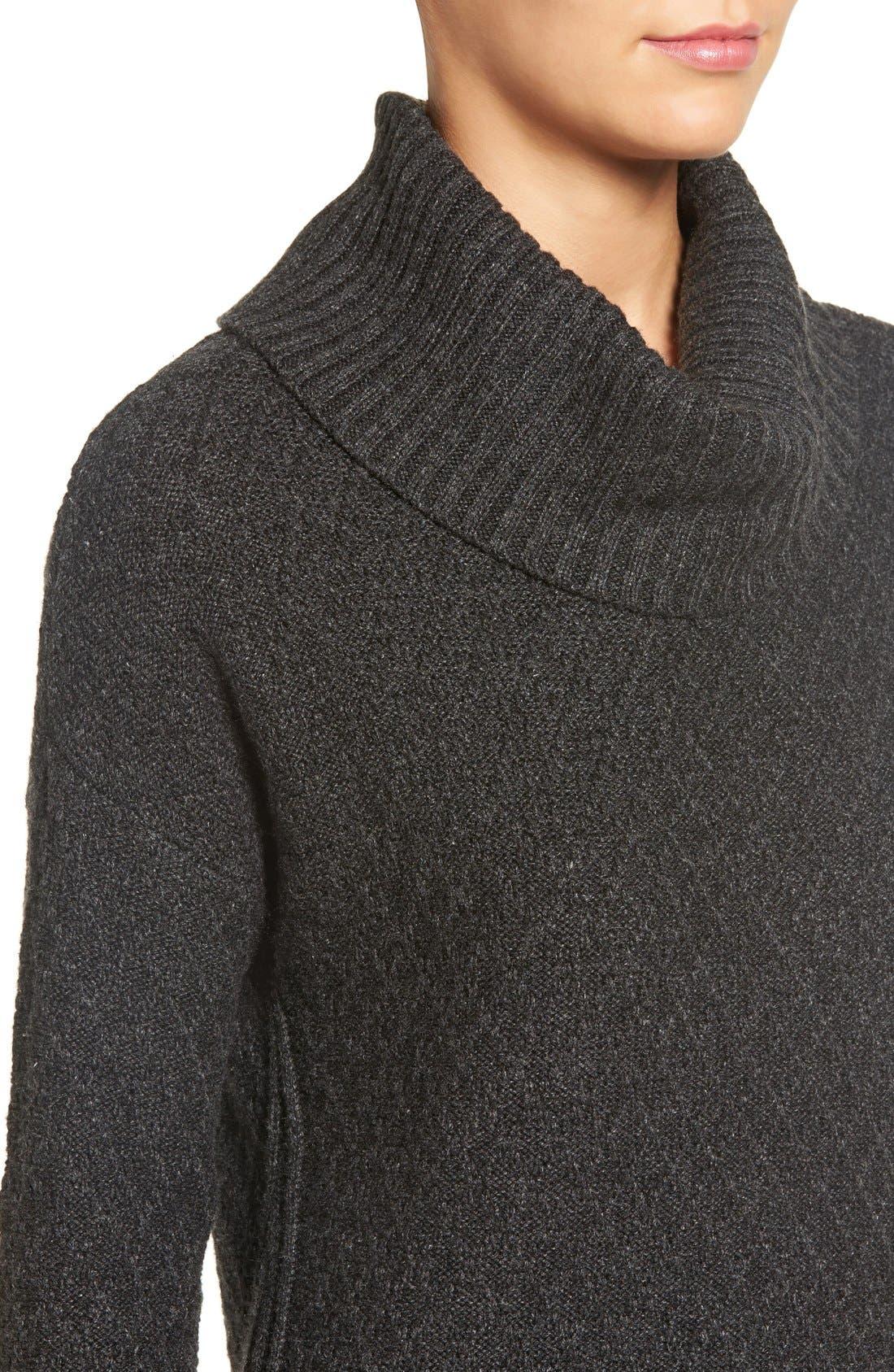 Alternate Image 4  - Treasure&Bond Turtleneck Sweater Dress