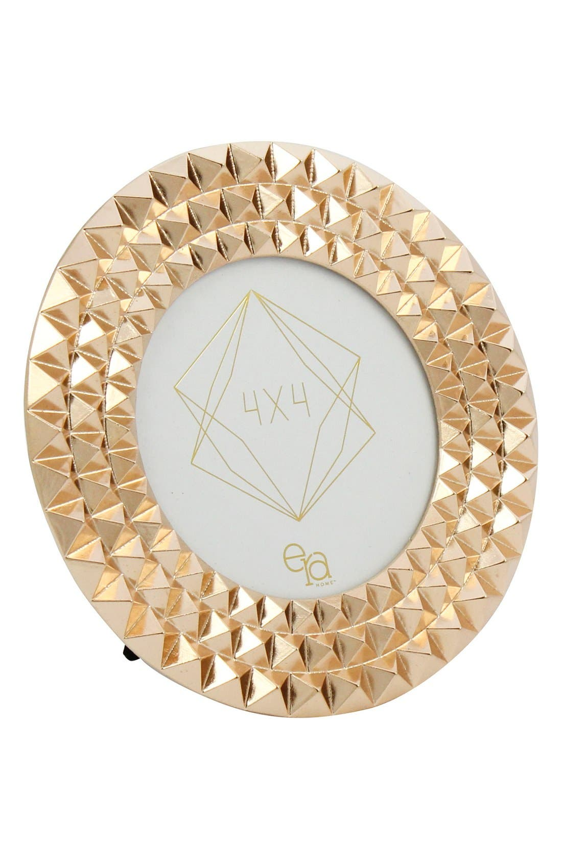 Pyramid Stud Round Frame,                         Main,                         color, Gold