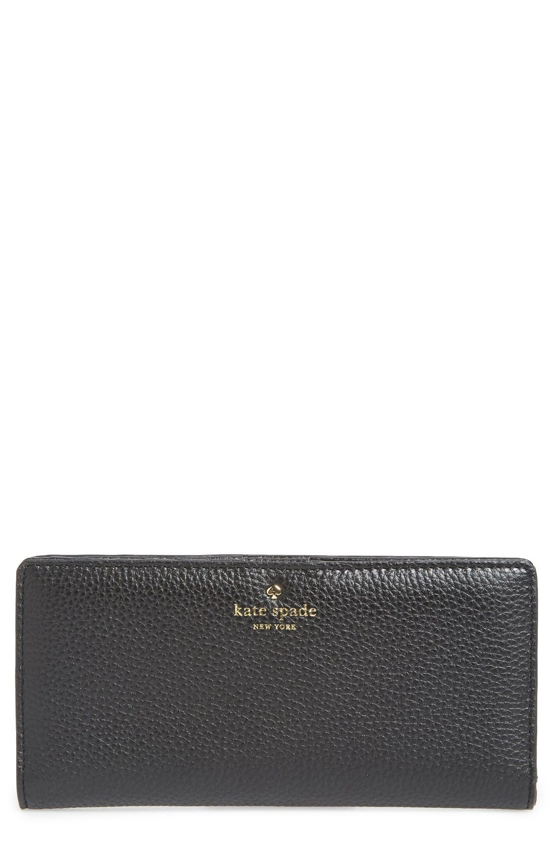 Main Image - kate spade new york 'cobble hill - large stacy' leather wallet