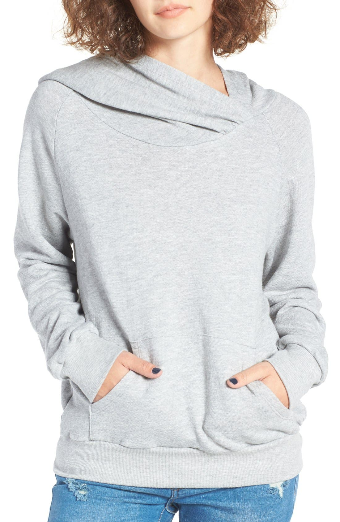 Alternate Image 1 Selected - BP. Wrap Neck Hoodie