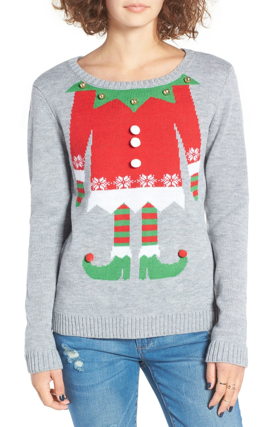 Alternate Image 1 Selected - Love By Design Elf Body Christmas Sweater