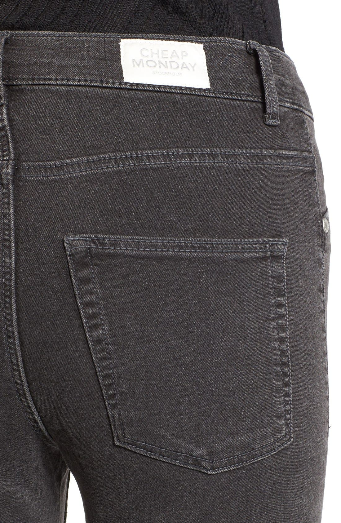 Alternate Image 4  - Cheap Monday High Rise Skinny Jeans