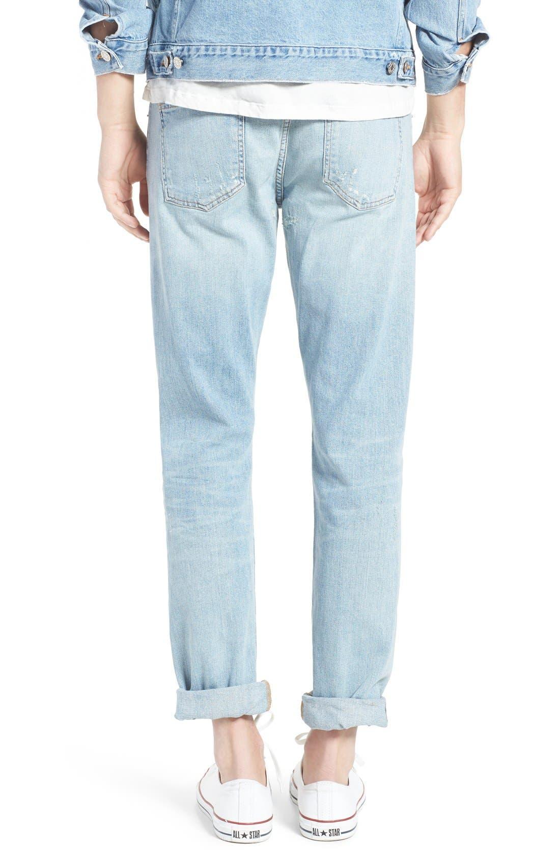 Alternate Image 4  - AGOLDE Skinny Fit Distressed Jeans (Pixx) (Men)
