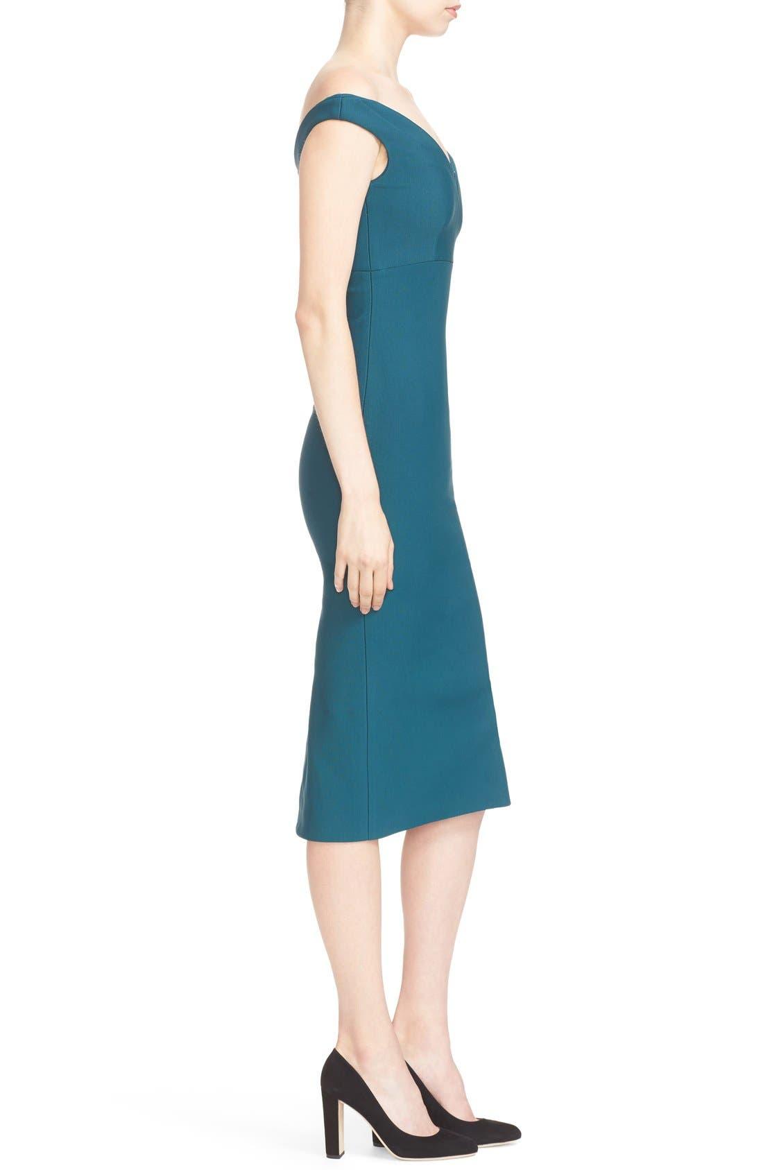Alternate Image 3  - Cinq à Sept Garnet Off the Shoulder Dress