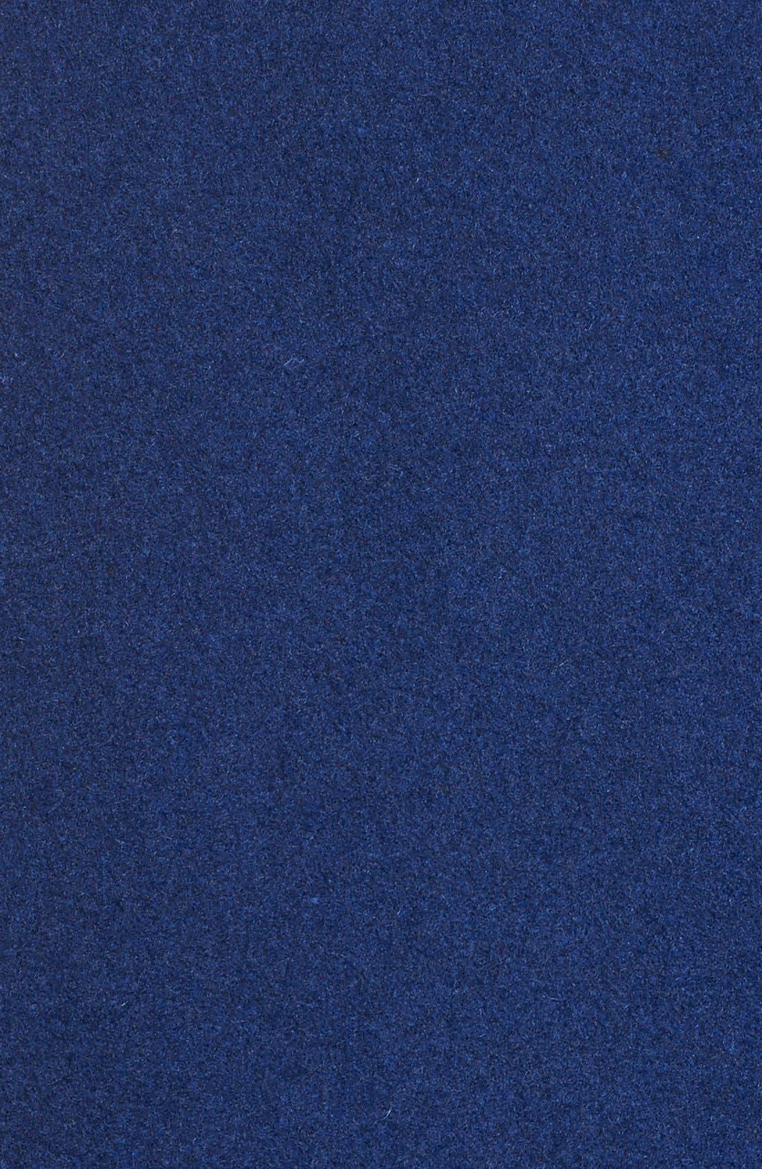 Wool Blend A-Line BabydollCoat,                             Alternate thumbnail 5, color,                             Sapphire