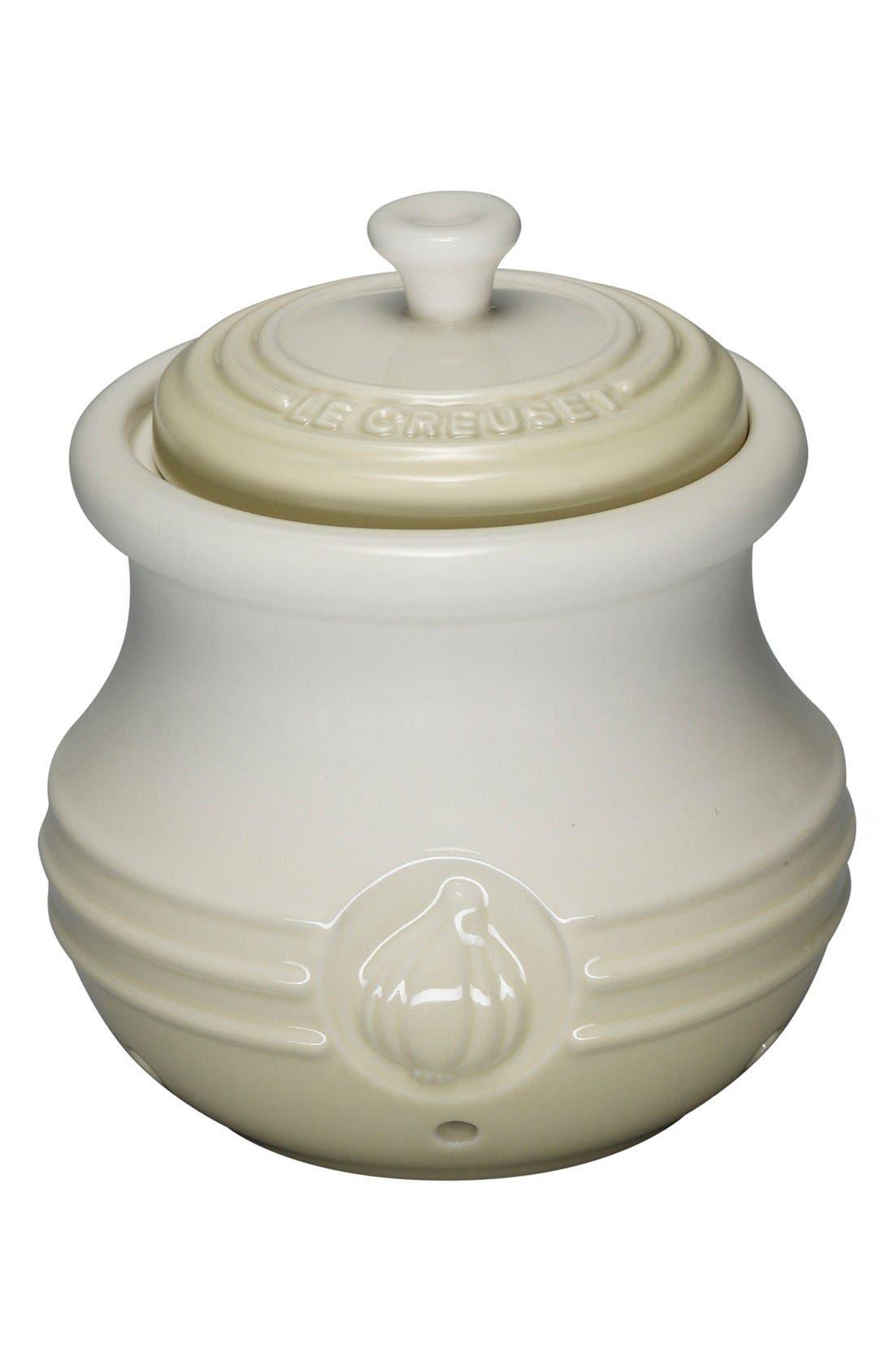 Petite Stoneware Garlic Cocotte,                         Main,                         color, Dune