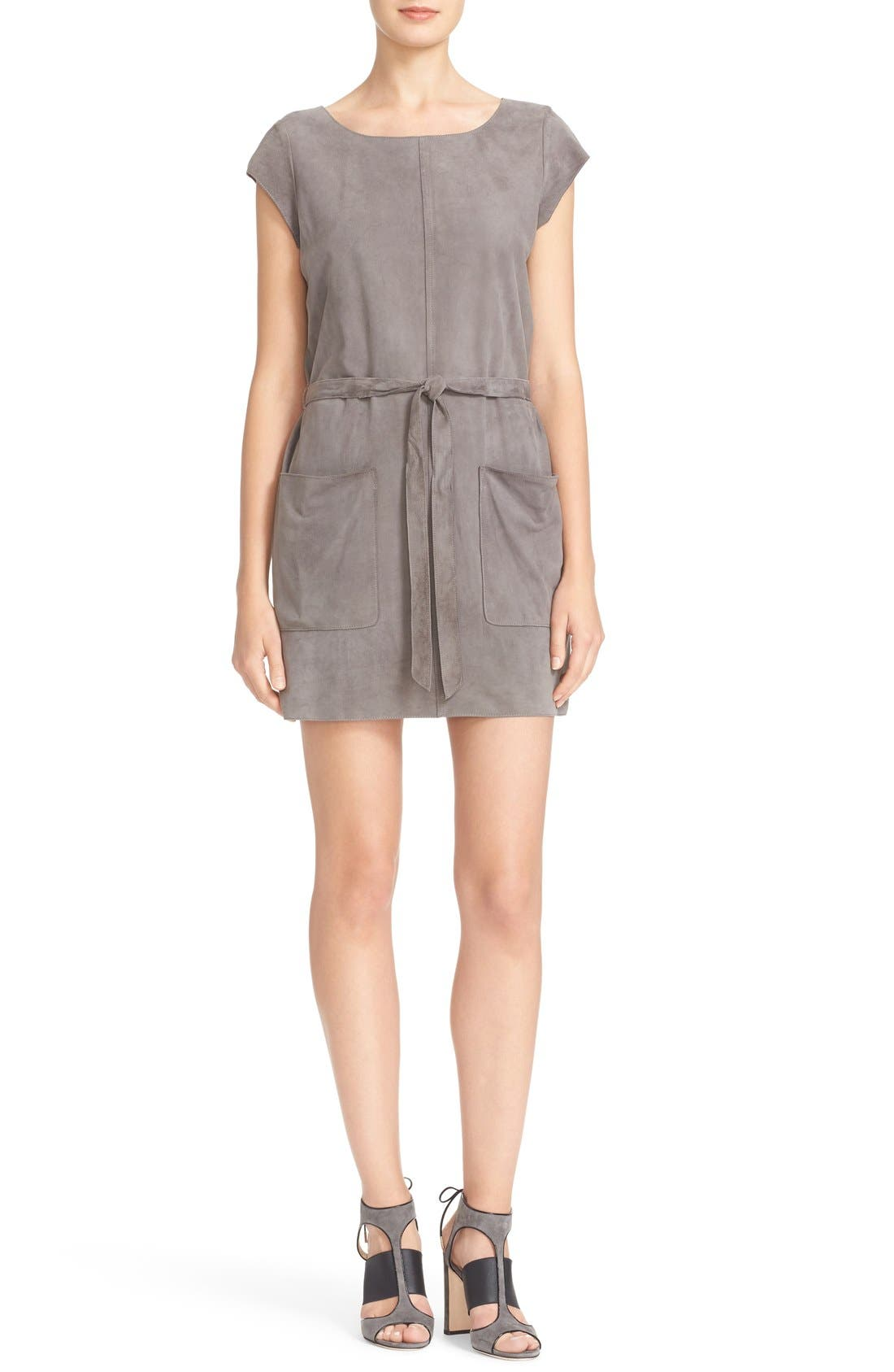 Alternate Image 1 Selected - Joie Maroone Belted Suede Minidress