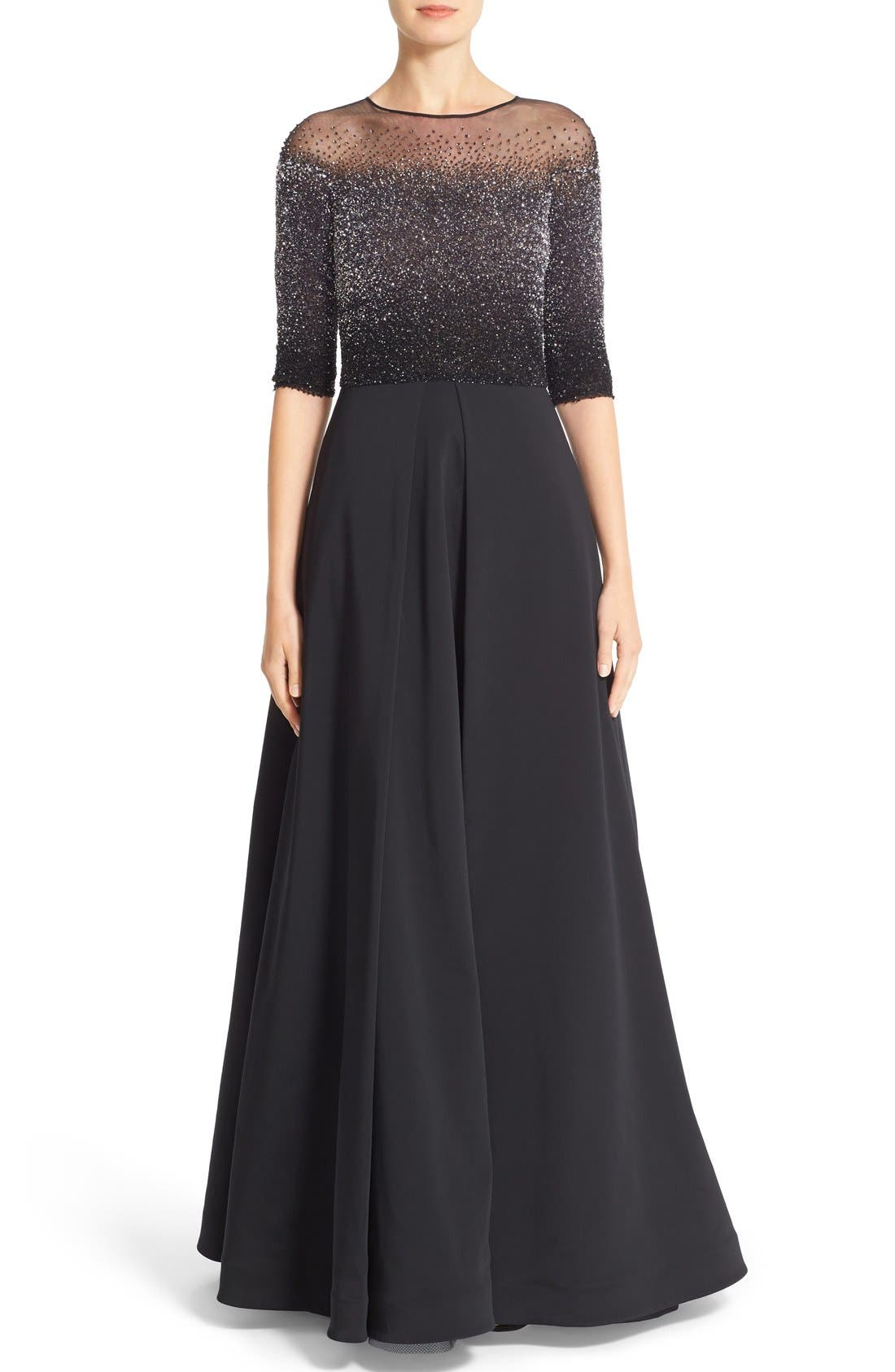 Pamella Roland Embellished Faille Ballgown (Nordstrom Exclusive Color)