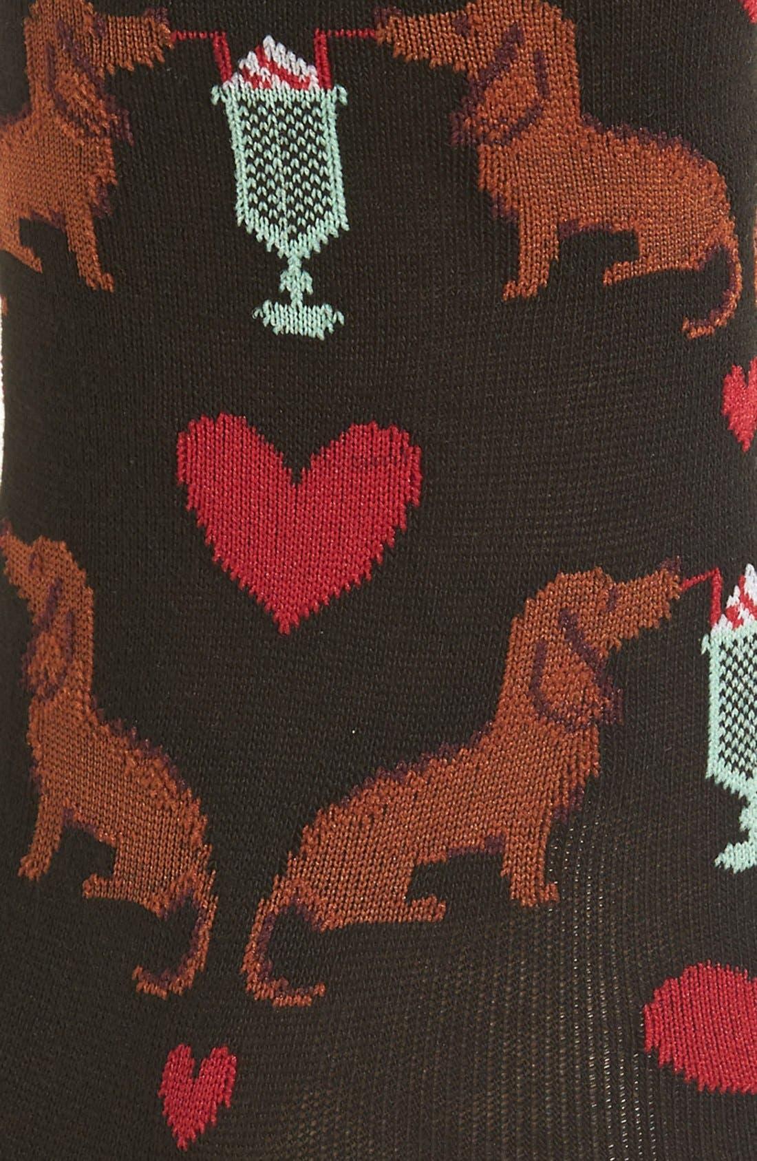 'Dogs & Milkshake' Crew Socks,                             Alternate thumbnail 2, color,                             Black