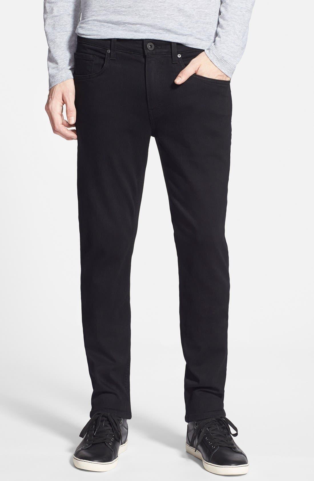 Main Image - PAIGE Transcend - Lennox XL Slim Fit Jeans (Black Shadow) (Tall)