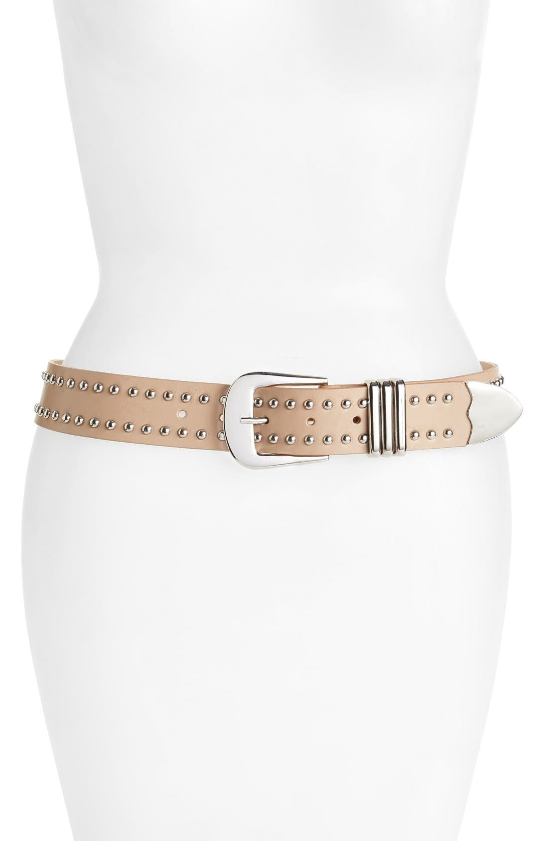 Main Image - B-Low the Belt 'Filmore' Studded Leather Belt
