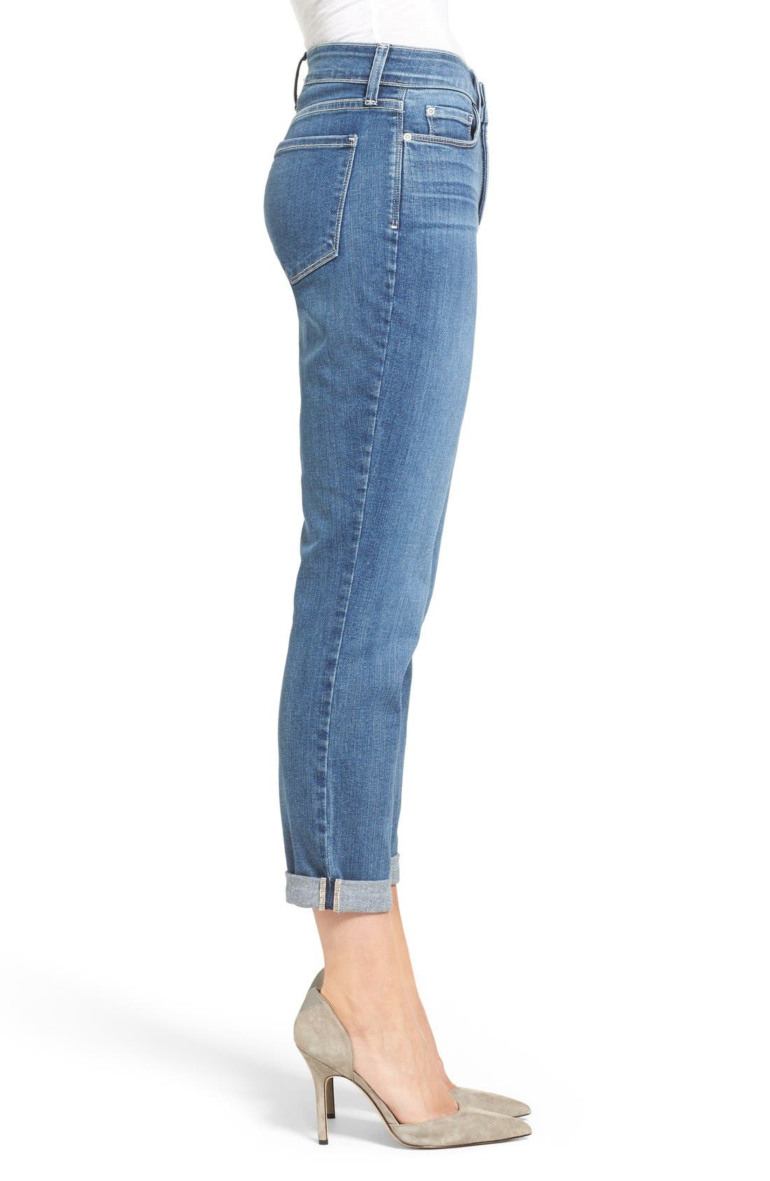 Alina Stretch Ankle Jeans,                             Alternate thumbnail 4, color,                             Heyburn