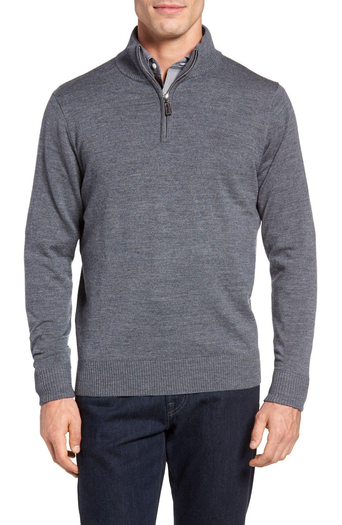 TAILORBYRD GrinnellQuarter Zip Wool Sweater