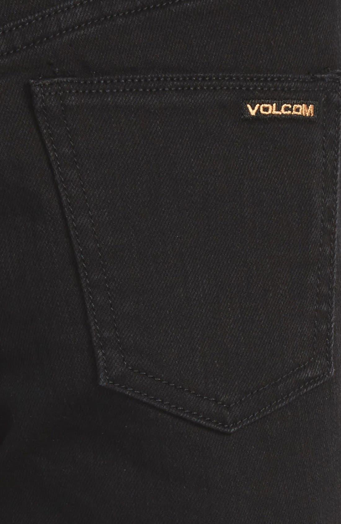 'Solver' Straight Leg Denim Jeans,                             Alternate thumbnail 4, color,                             New Black