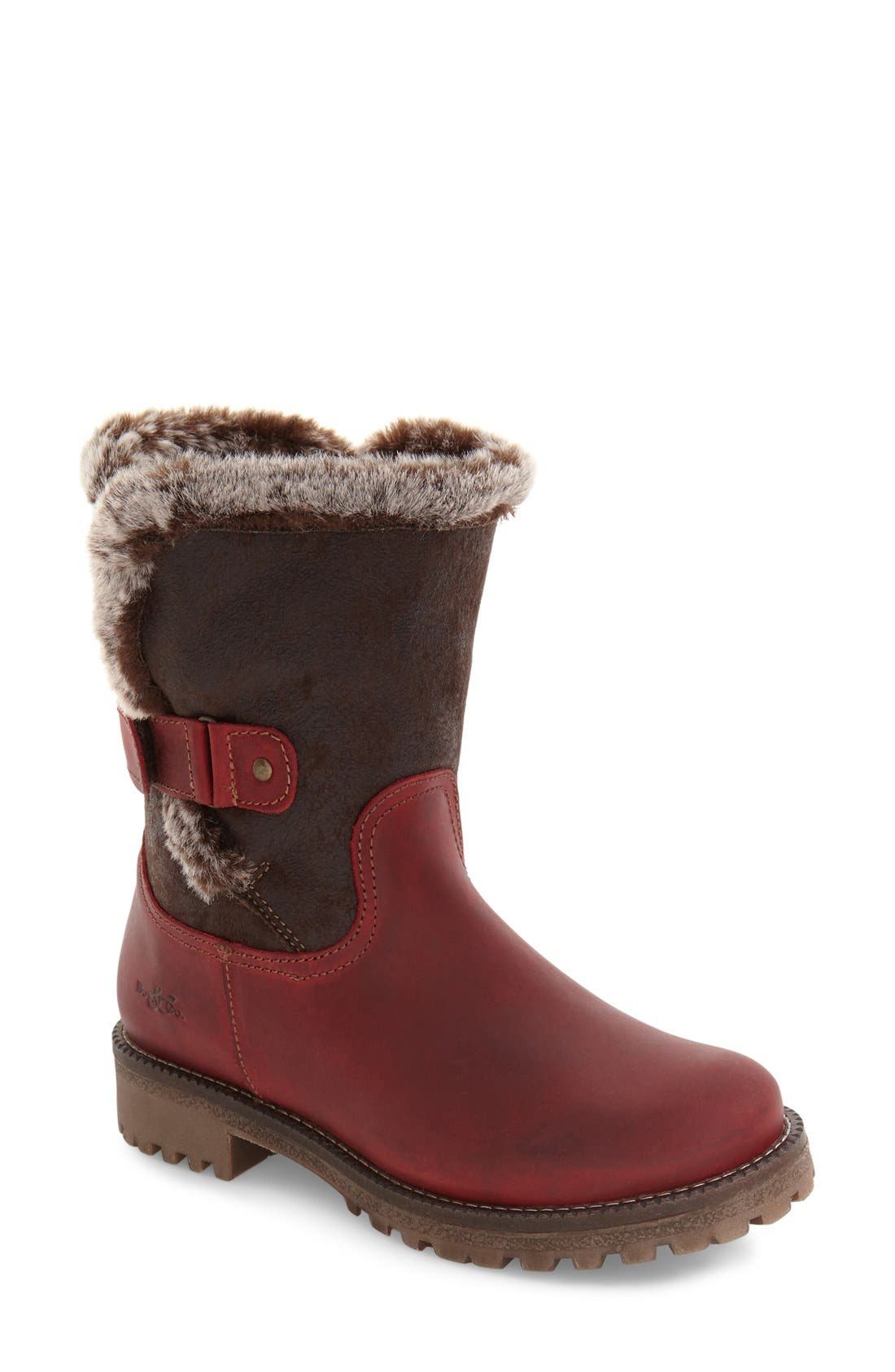 Alternate Image 1 Selected - Bos. & Co. Candy Waterproof Boot with Faux Fur Trim (Women)