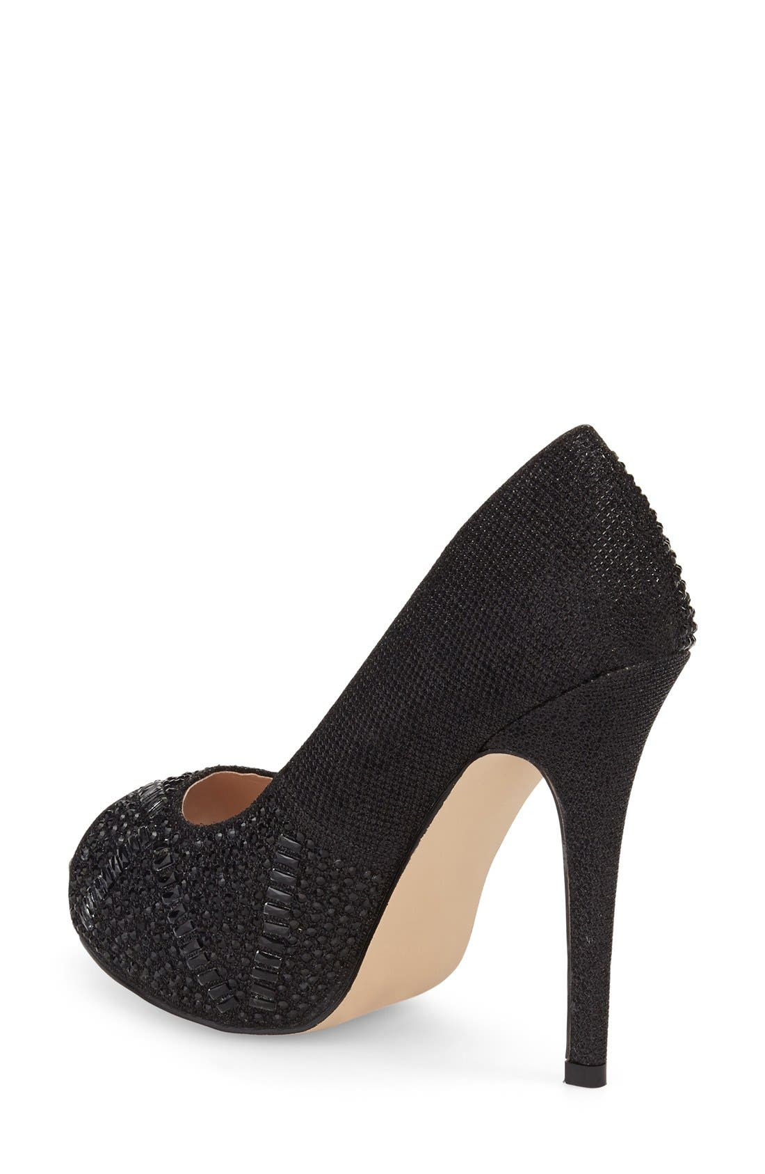 Elissa - 3 Peep Toe Pump,                             Alternate thumbnail 2, color,                             Black