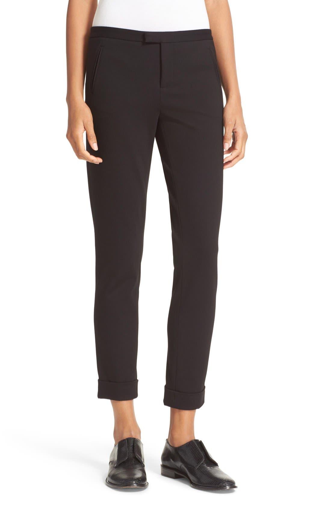 Slim Crop Pants,                         Main,                         color, Black