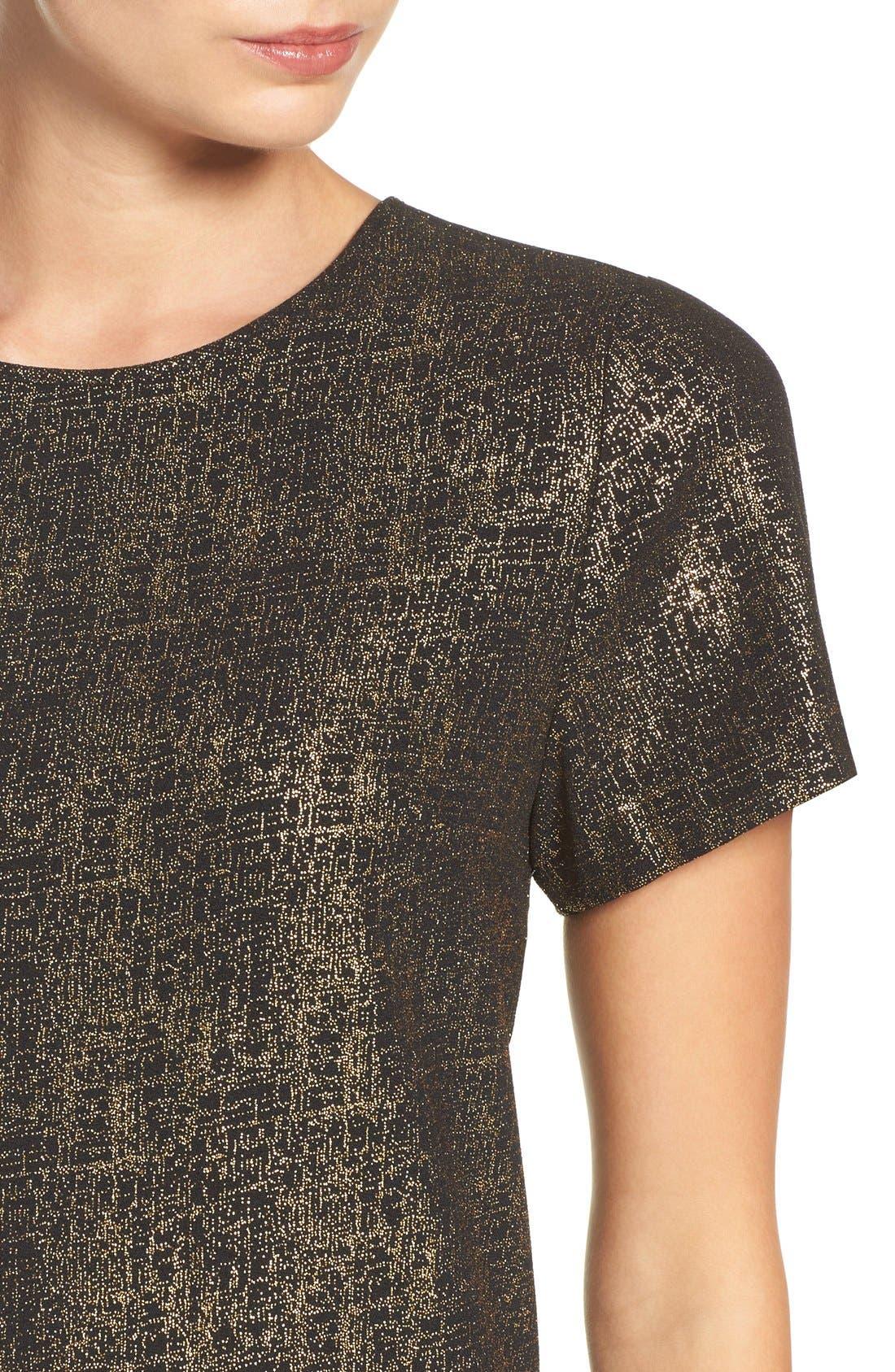 Alternate Image 5  - Felicity & Coco Amy Metallic Shift Dress (Regular & Petite) (Nordstrom Exclusive)