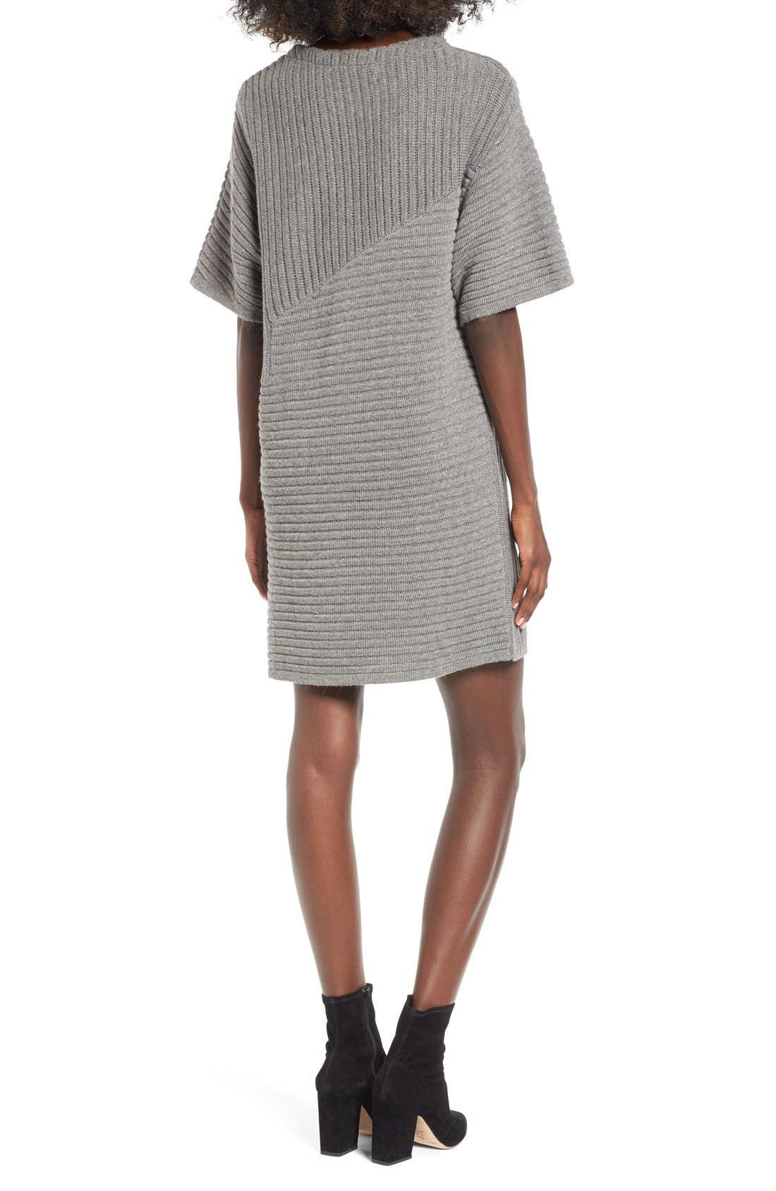 Alternate Image 2  - ASTR Ribbed Sweater Dress