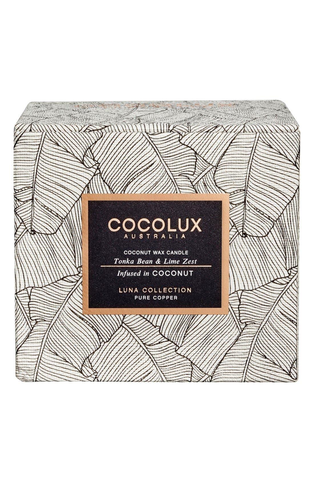 Alternate Image 2  - Cocolux Australia Tonka Bean & Lime Zest Copper Candle