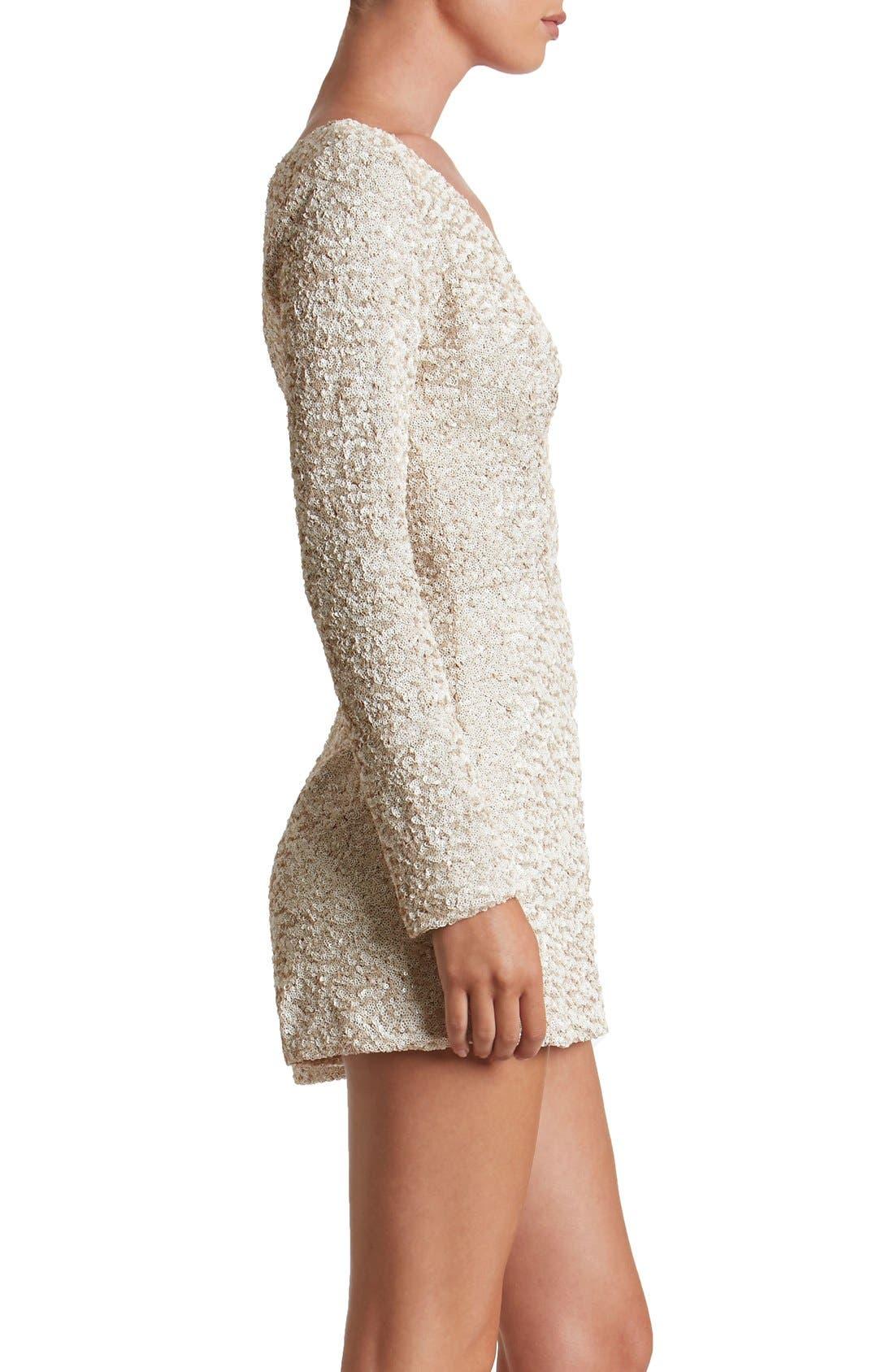 Alternate Image 3  - Dress the Population Bianca Sequin Romper